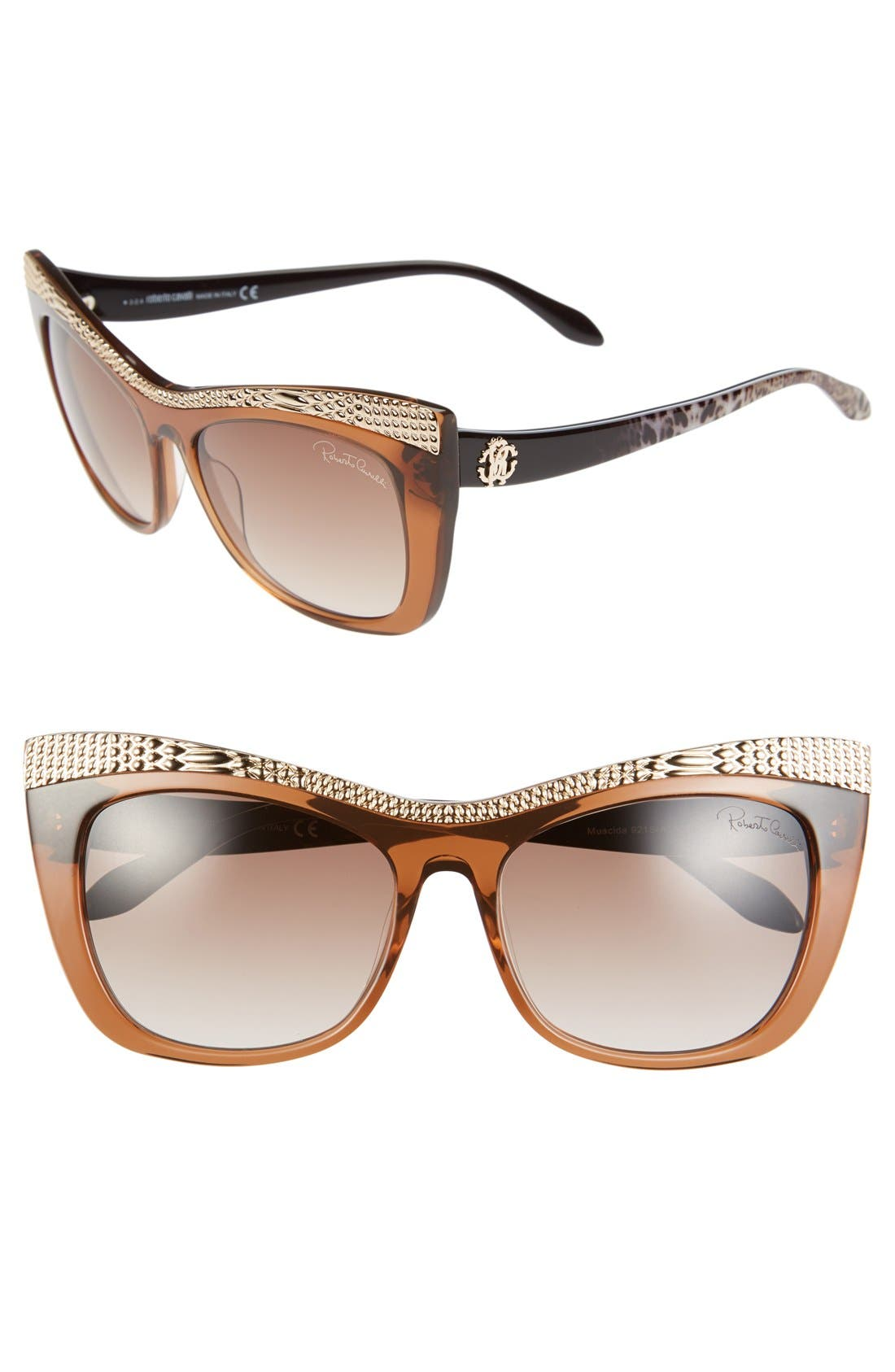 Roberto Cavalli 'Muscida' 56mm Cat Eye Sunglasses