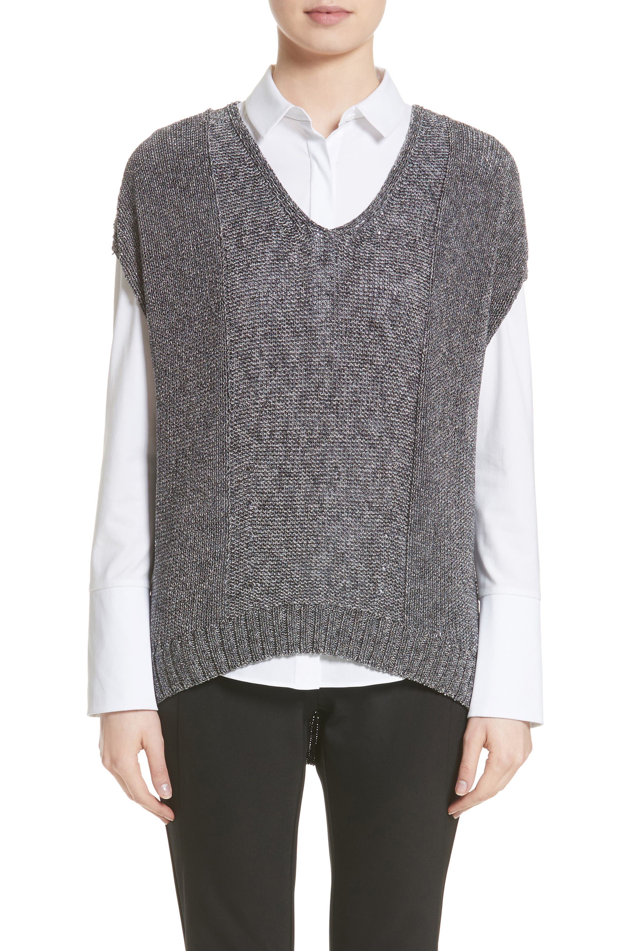Lafayette 148 New York Drop Hem Sweater (Nordstrom Exclusive)