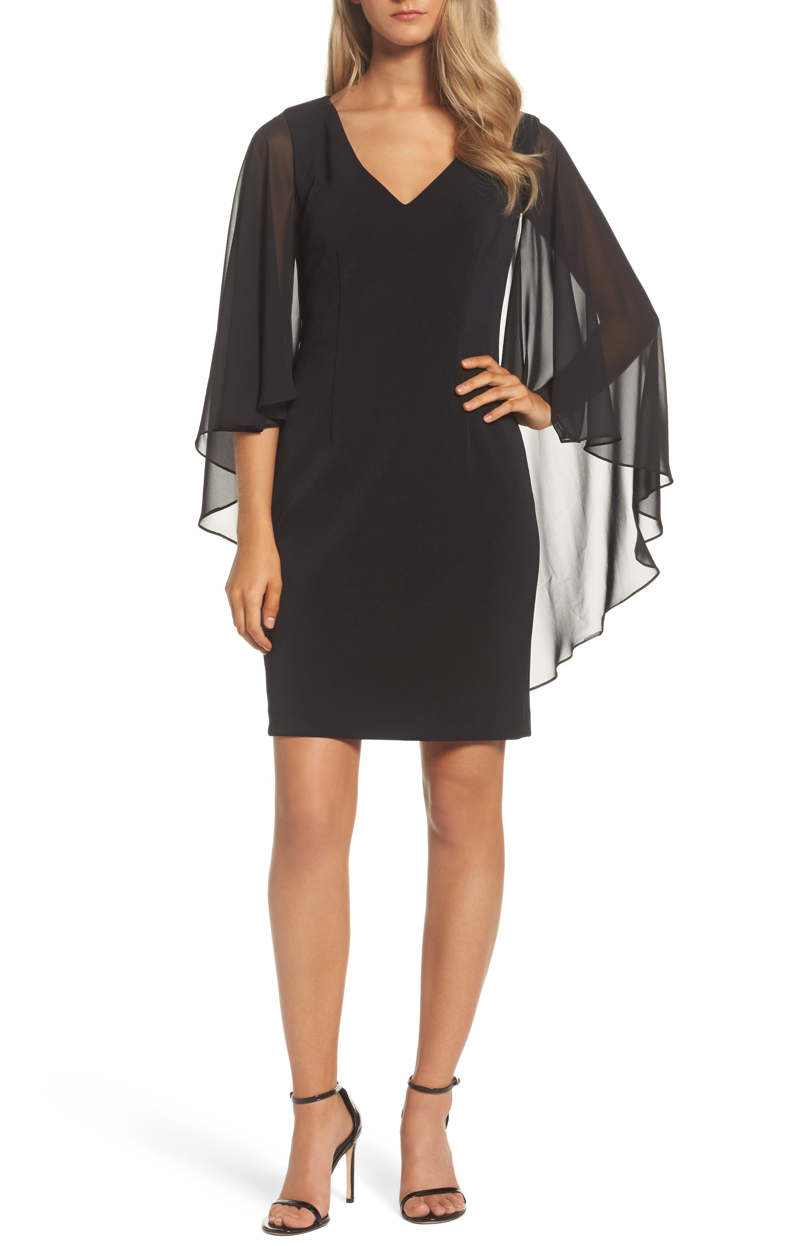 Vince Camuto Cape Dress
