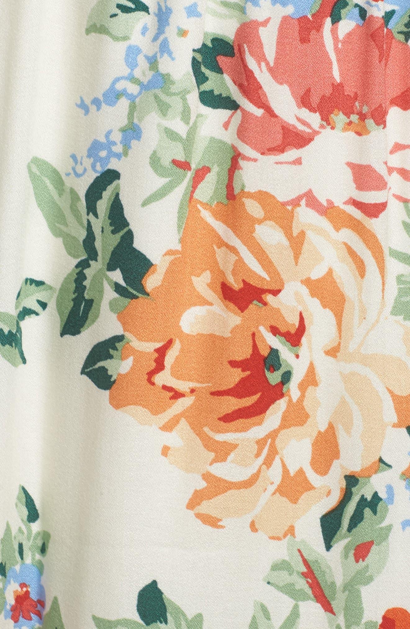 Alternate Image 5  - Charles Henry Cold Shoulder Blouson Dress (Regular & Petite)
