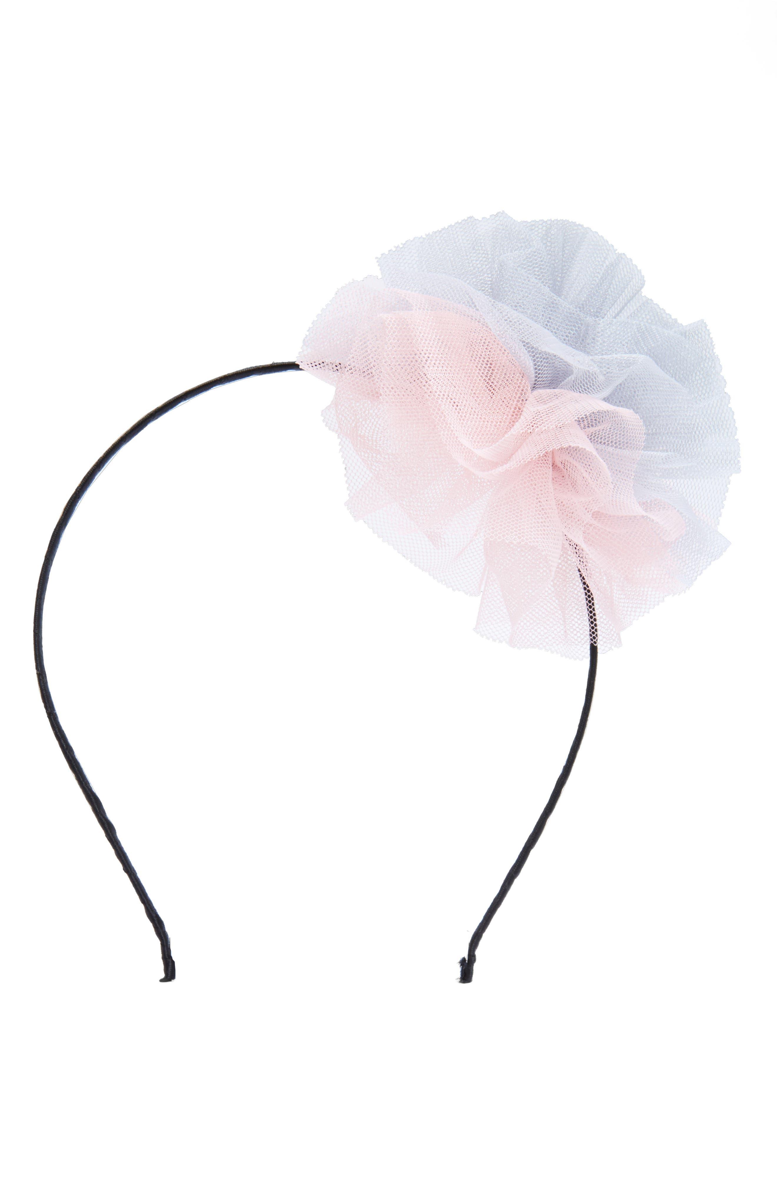 Cara Two-Tone Mesh Pouf Headband (Girls)