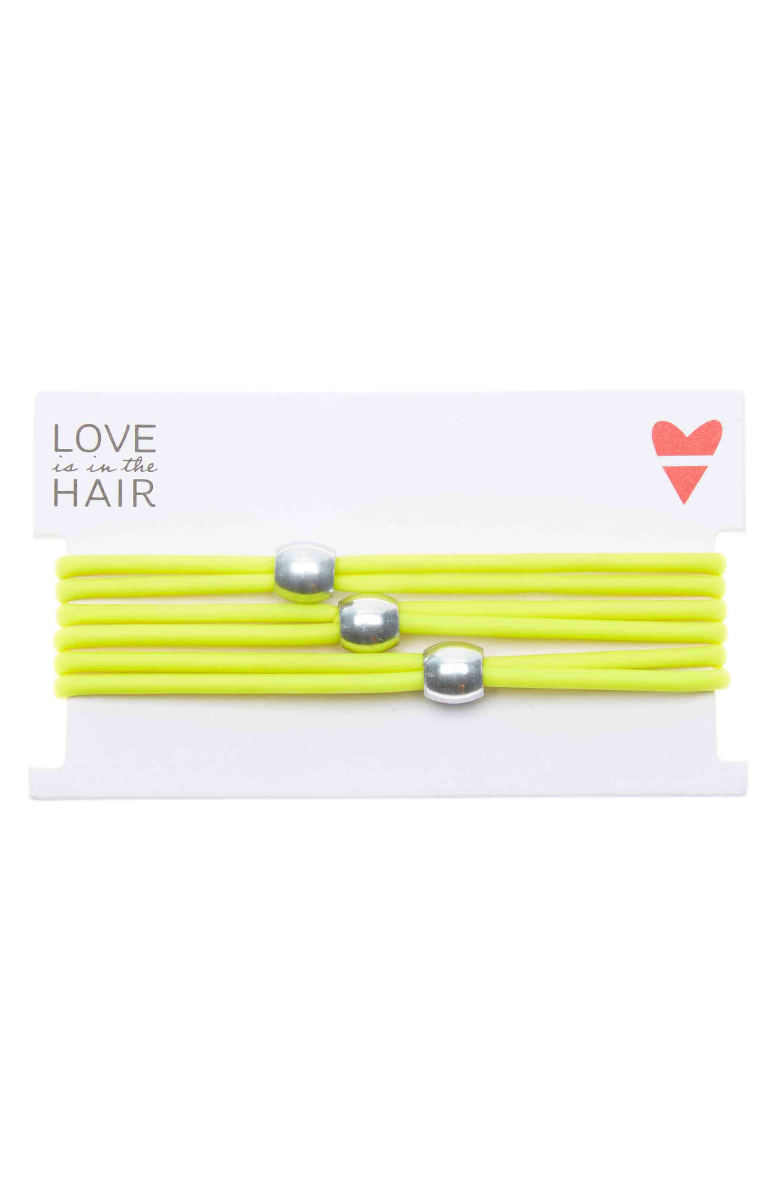 Love Is In The Hair Beach 3-Pack Hair Ties