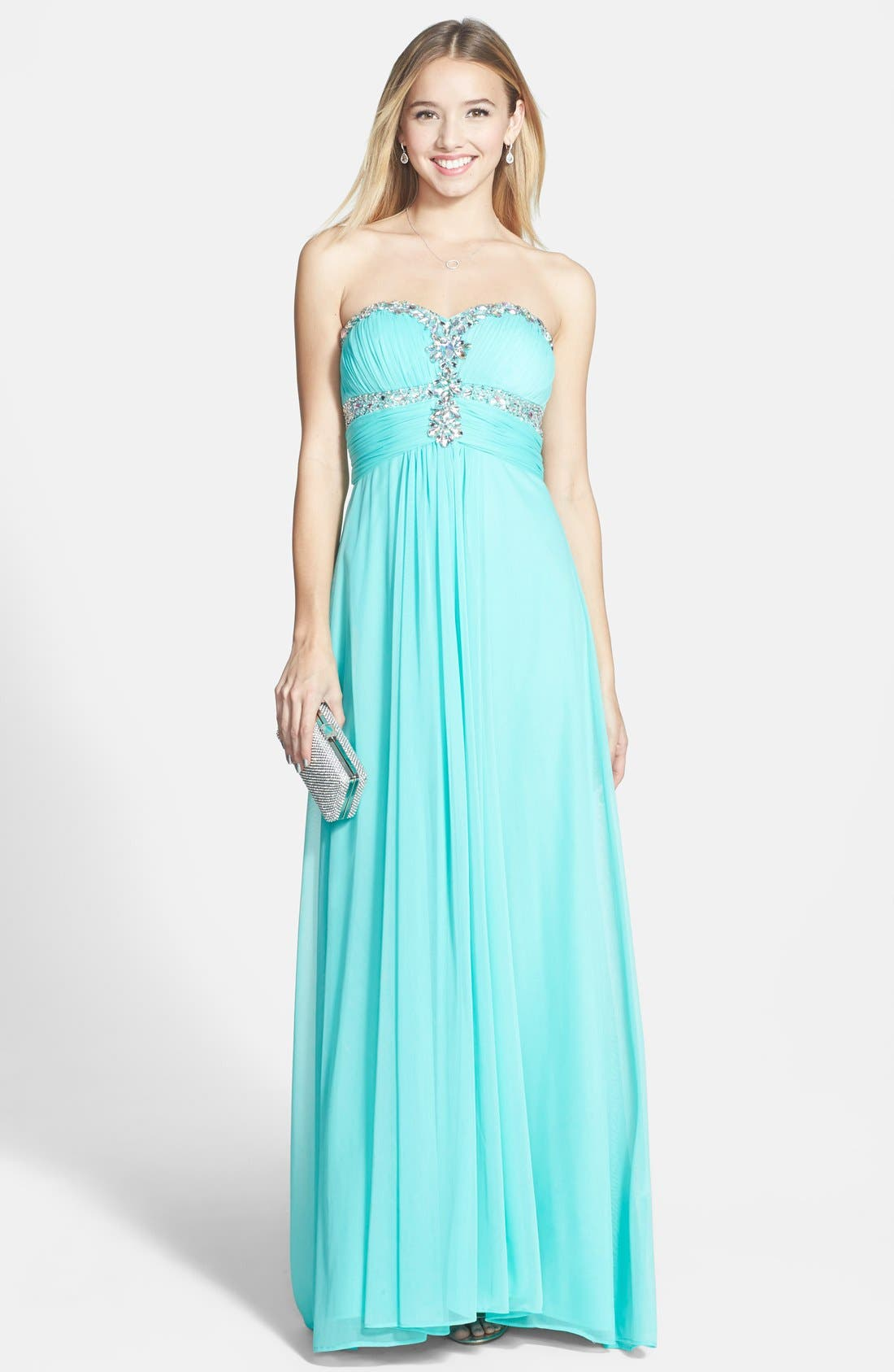 Main Image - Xscape Sweetheart Bodice Gown