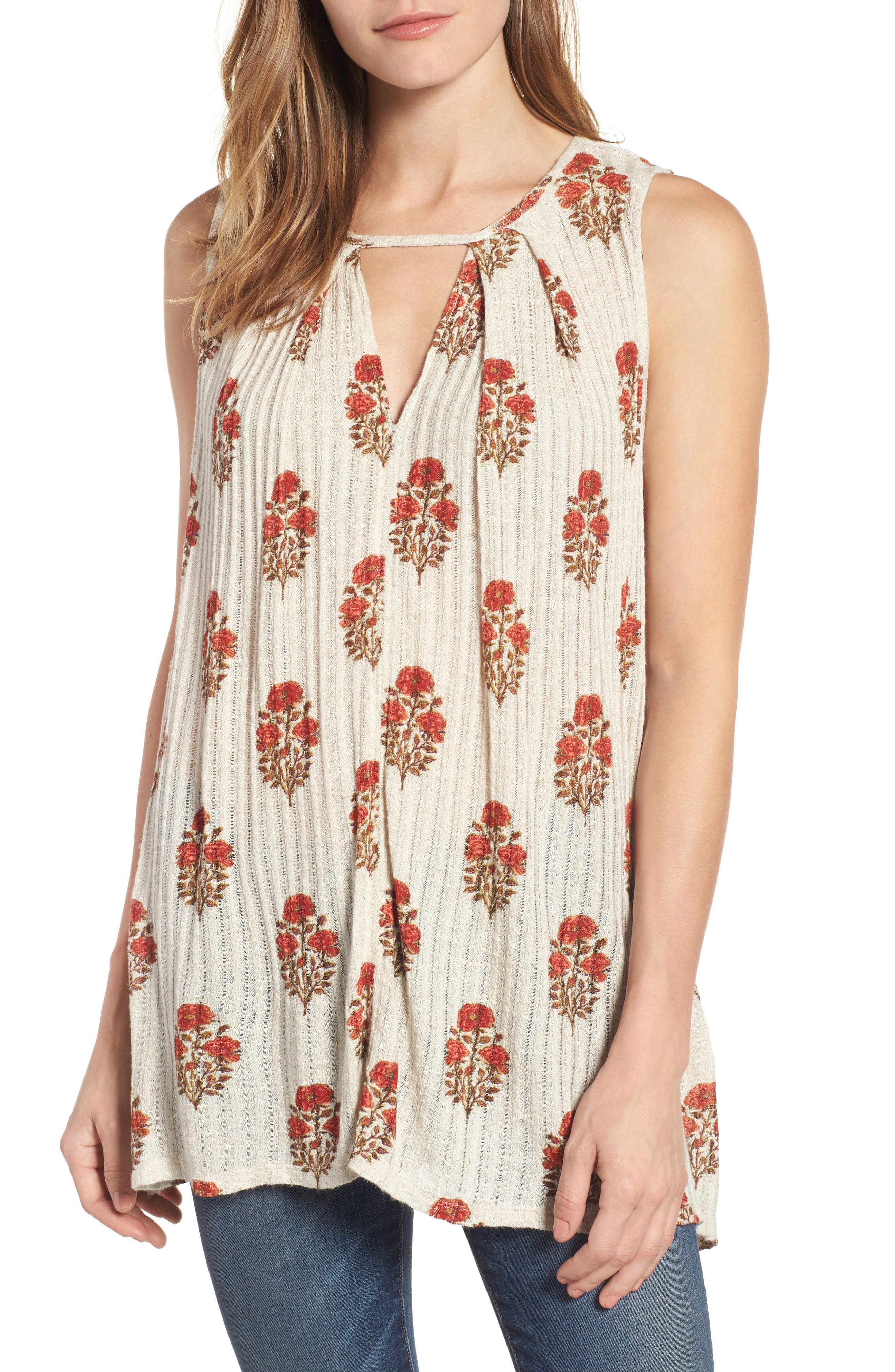 Lucky Brand Woodblock Print Tunic