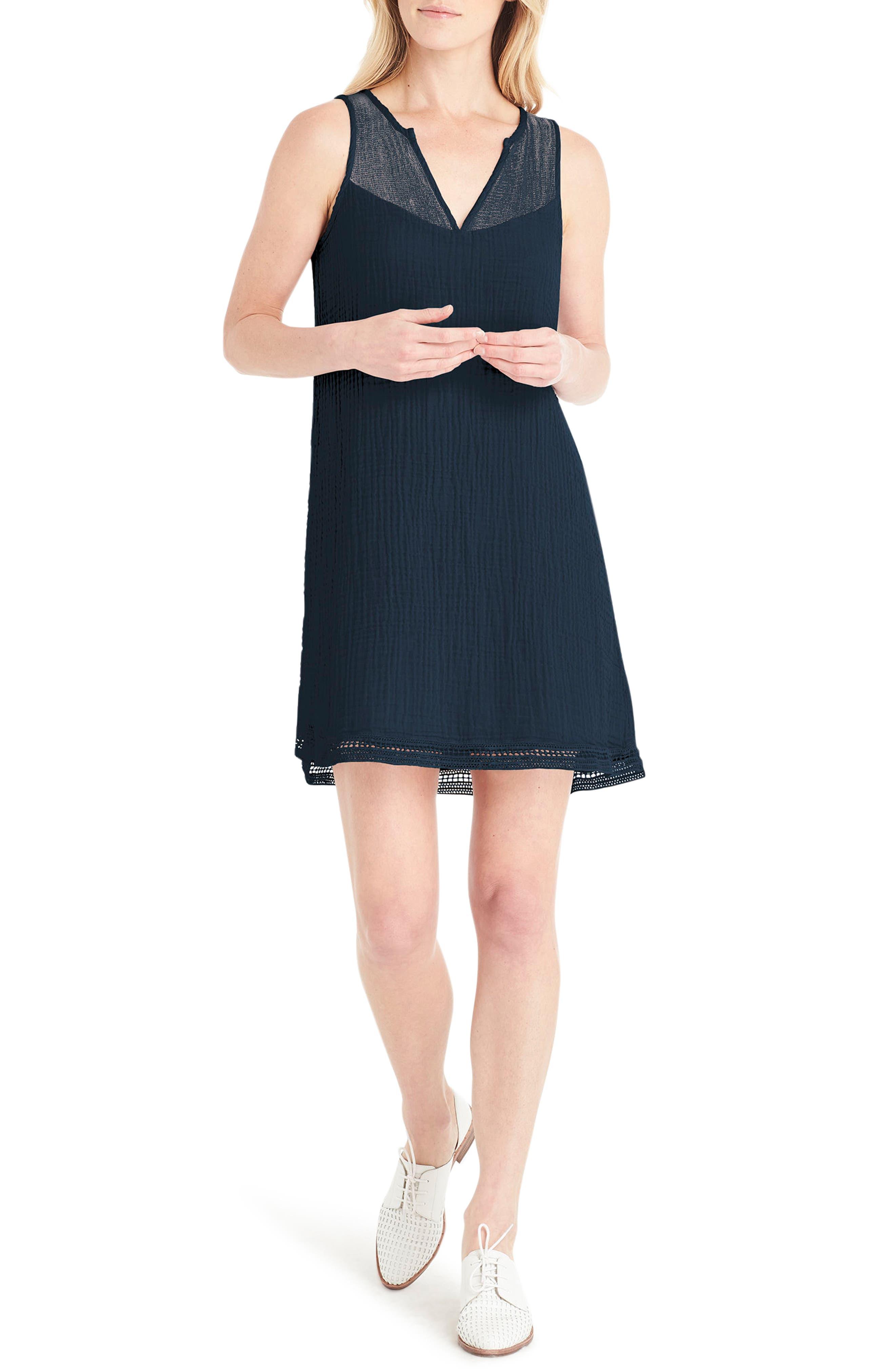Michael Stars Lace Trim A-Line Dress