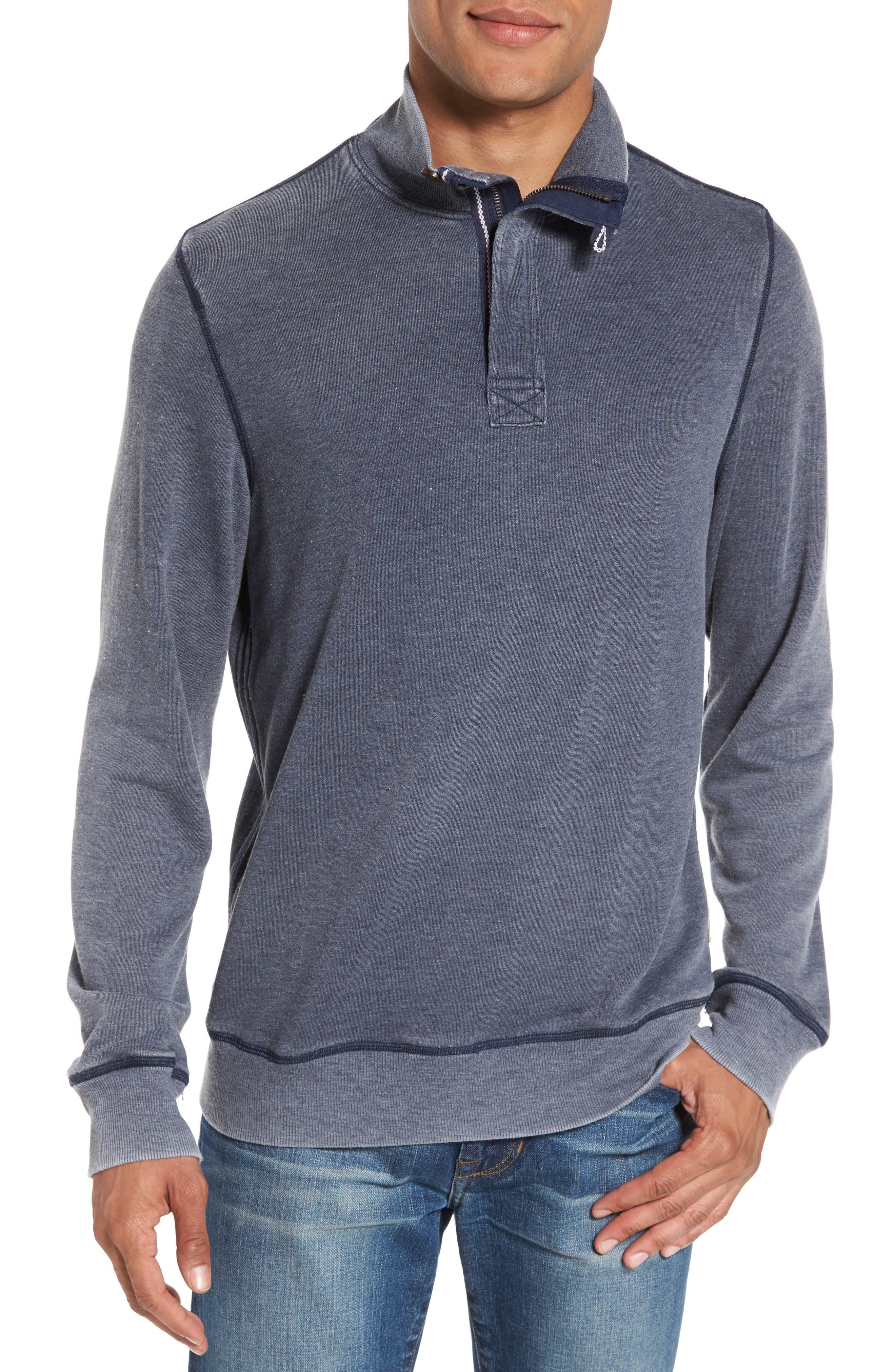 Surfside Supply Burnout Quarter Zip Fleece Pullover