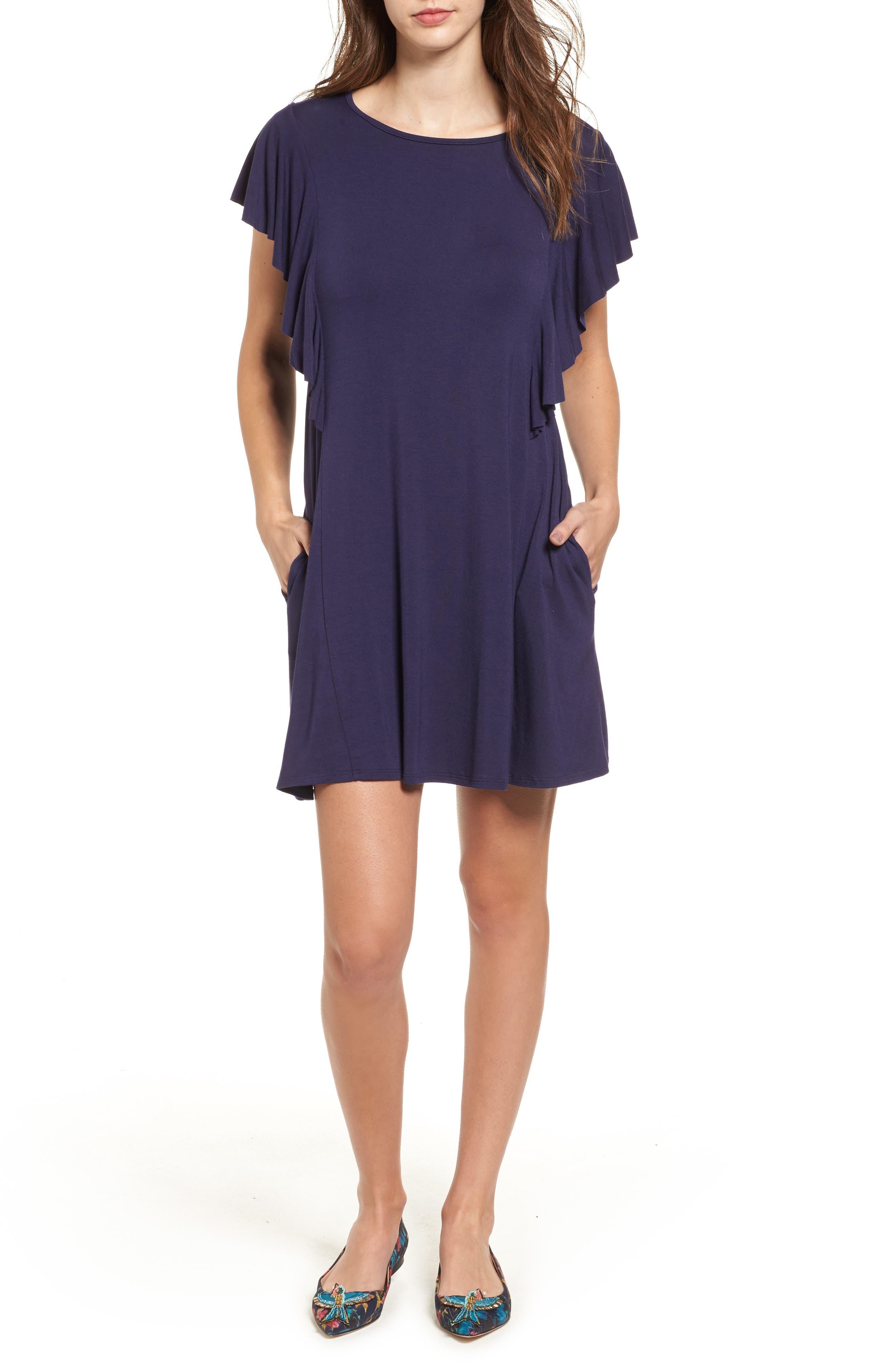 Socialite Ruffle Sleeve T-Shirt Dress