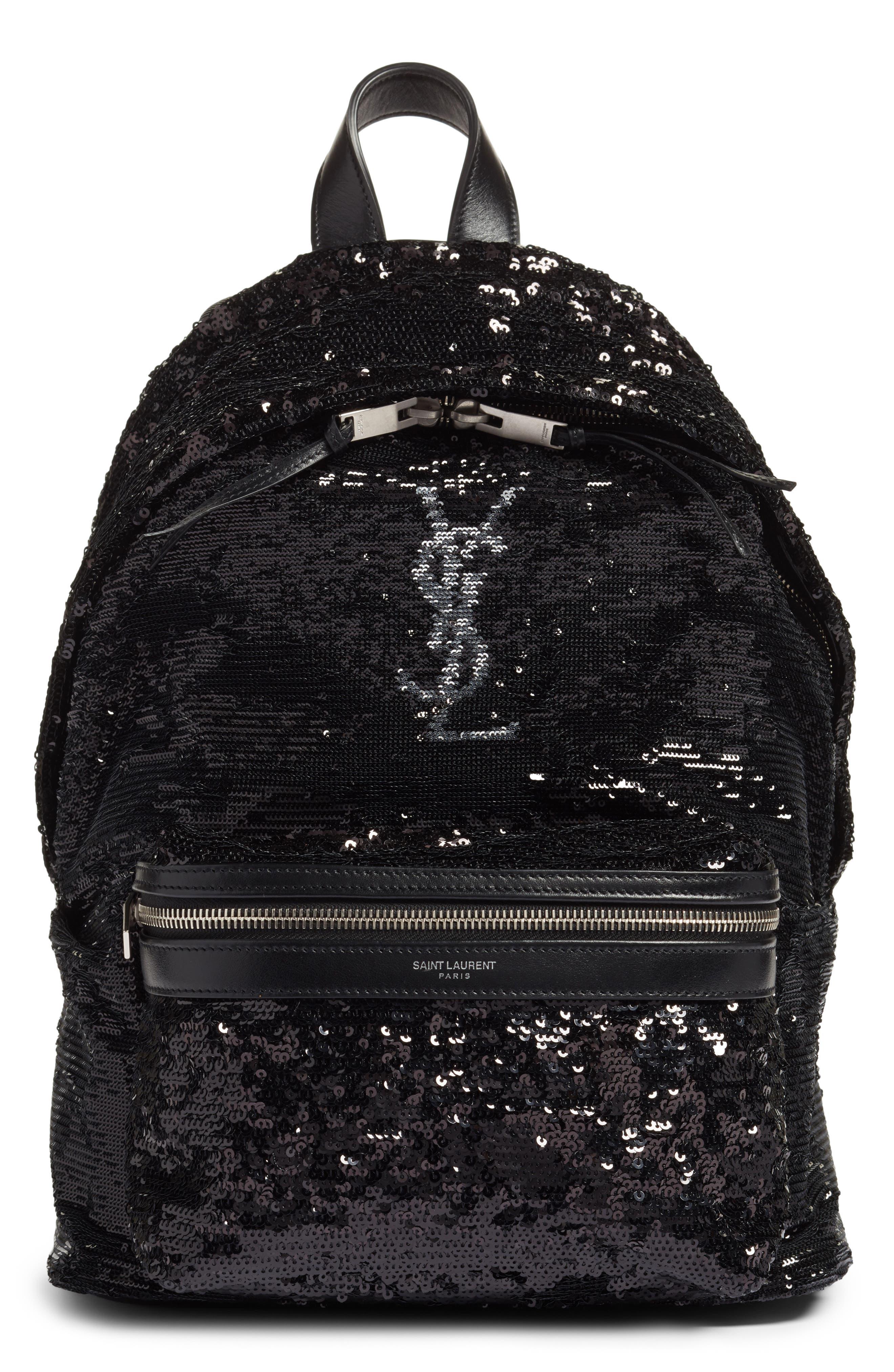 Saint Laurent Mini City Magic Paillettes Backpack