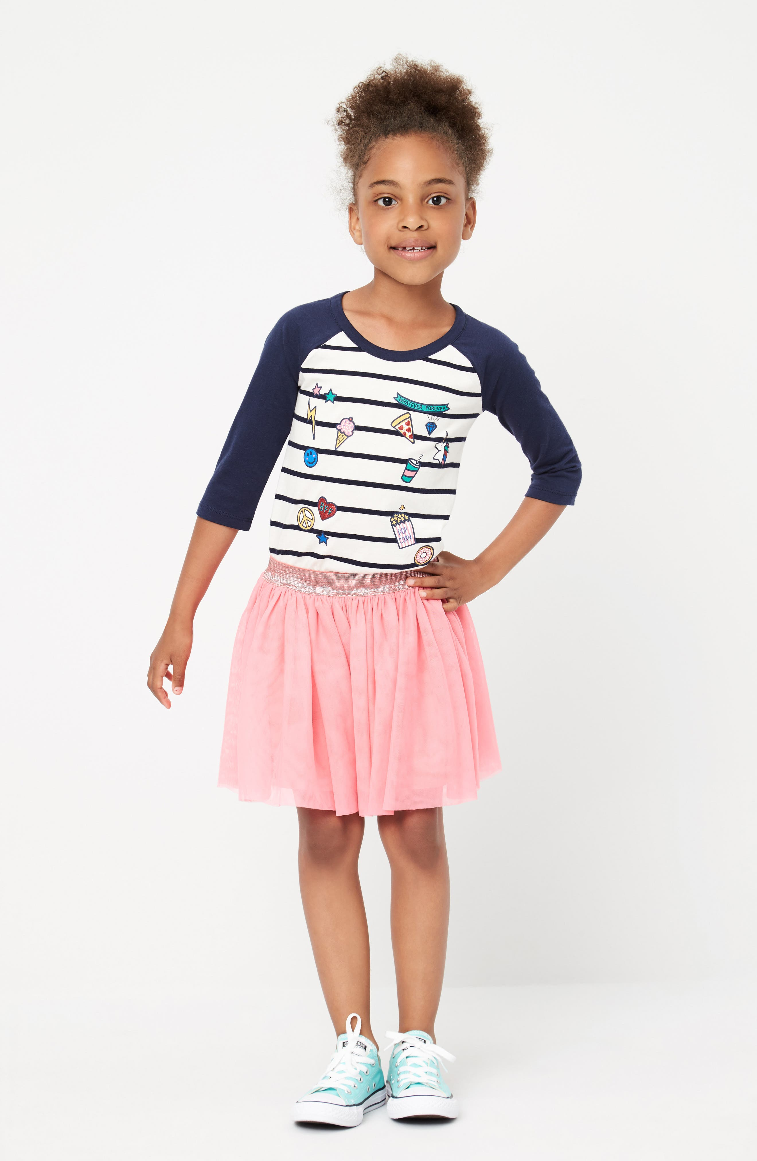 Tucker + Tate Tee & Skirt Outfit with Accessories (Toddler Girls, Little Girls & Big Girls)