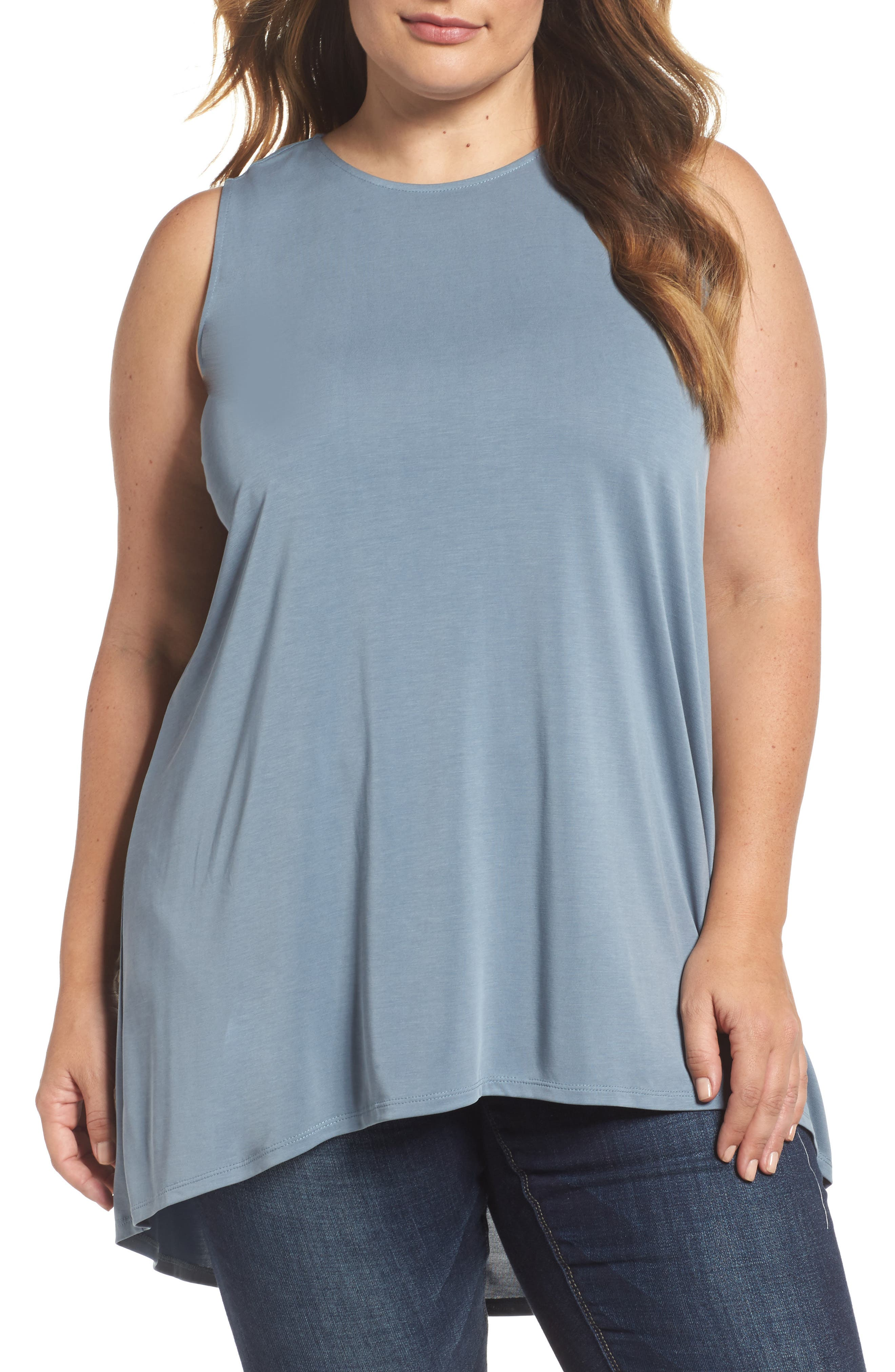 Vince Camuto High/Low Knit Top (Plus Size)