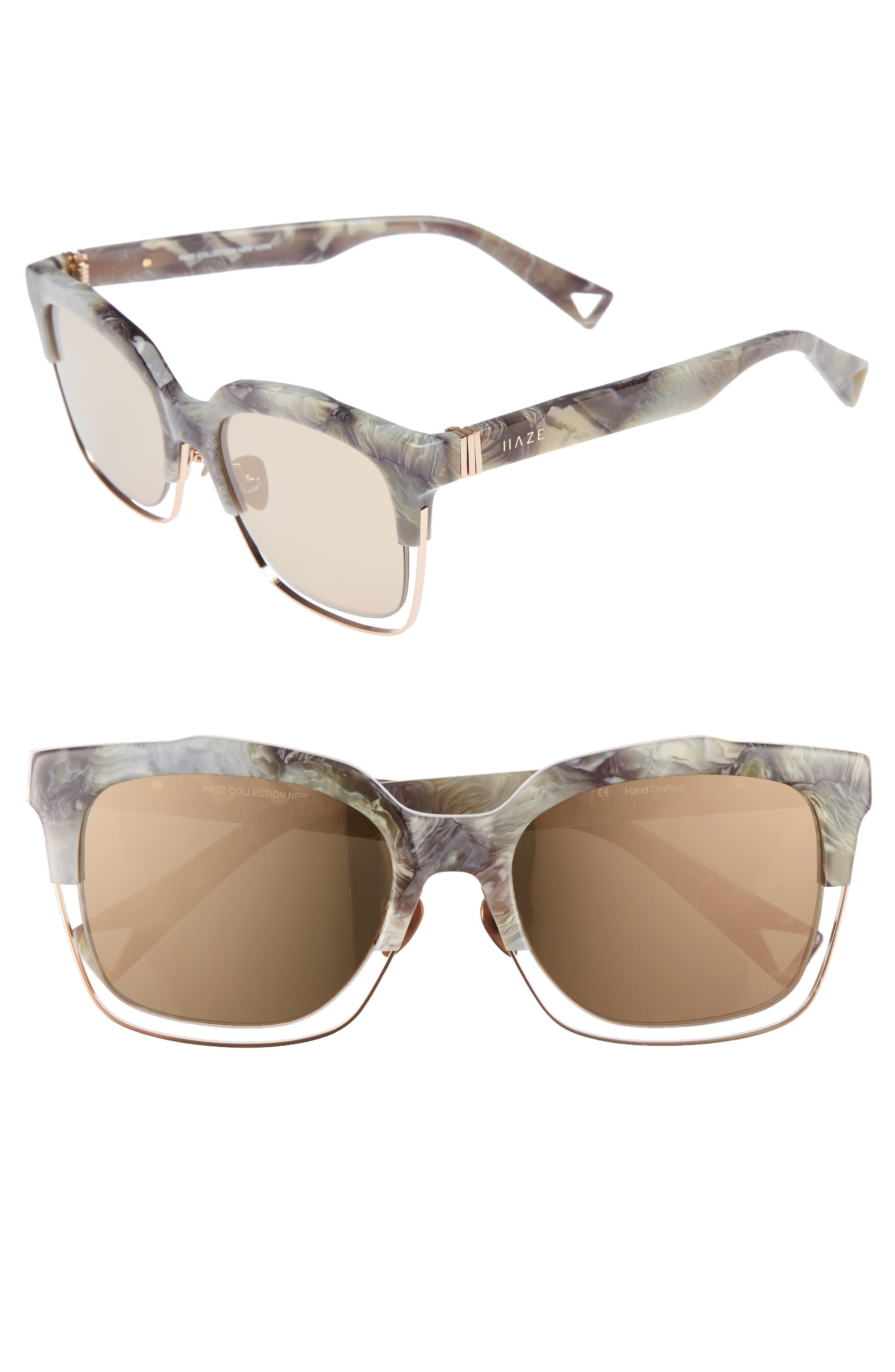 HAZE Buzz 55mm Mirrored Sunglasses