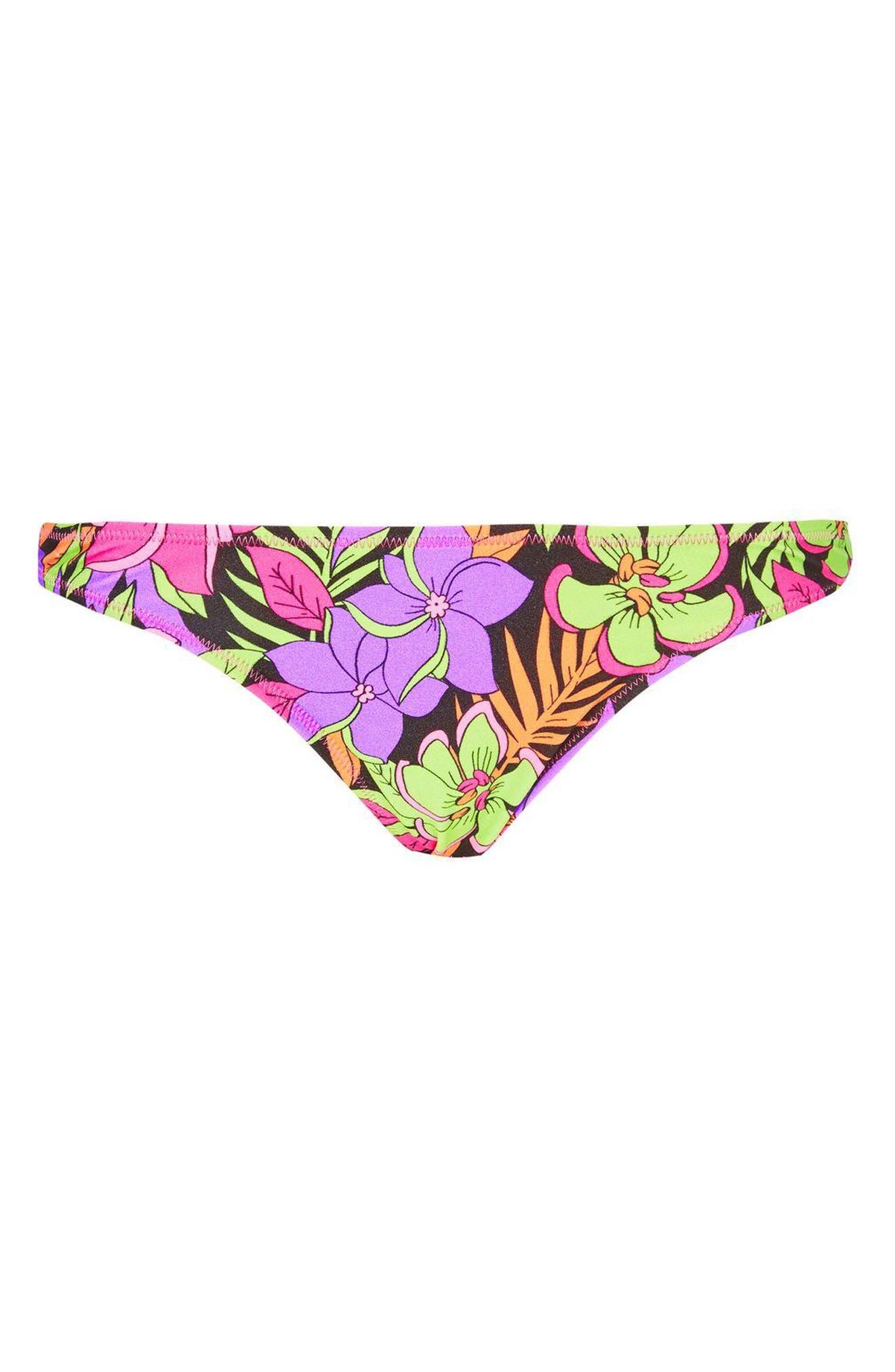 Topshop Tropical Bikini Bottoms