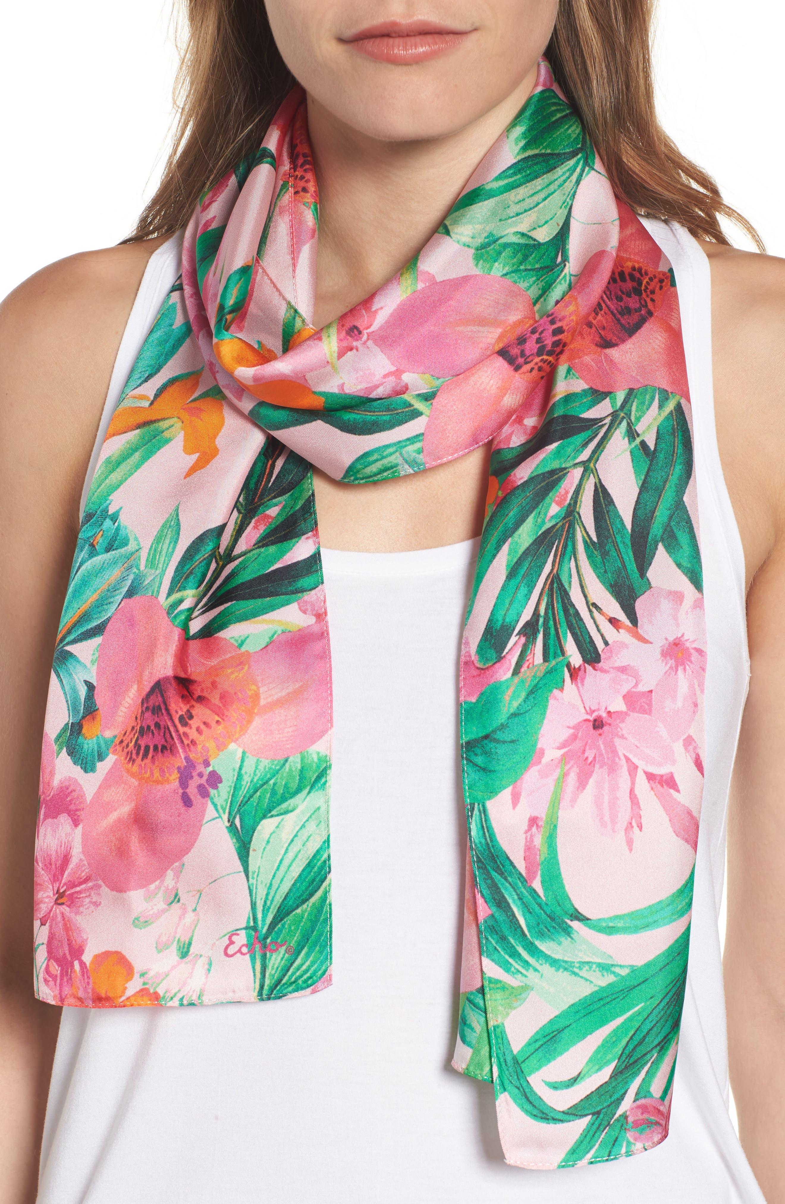 Echo Tropic Floral Silk Scarf