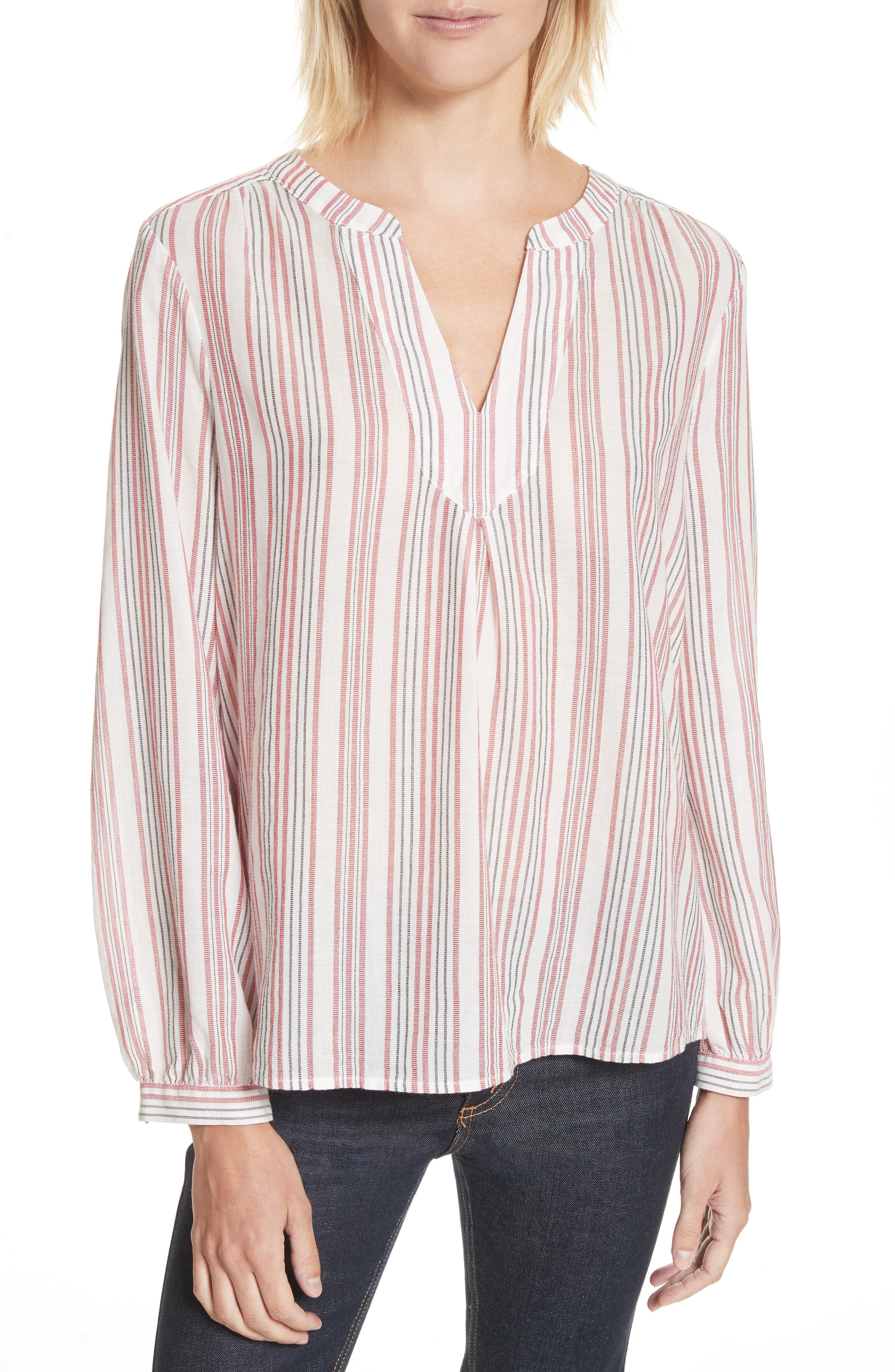 Joie Theoline Stripe Cotton Blouse