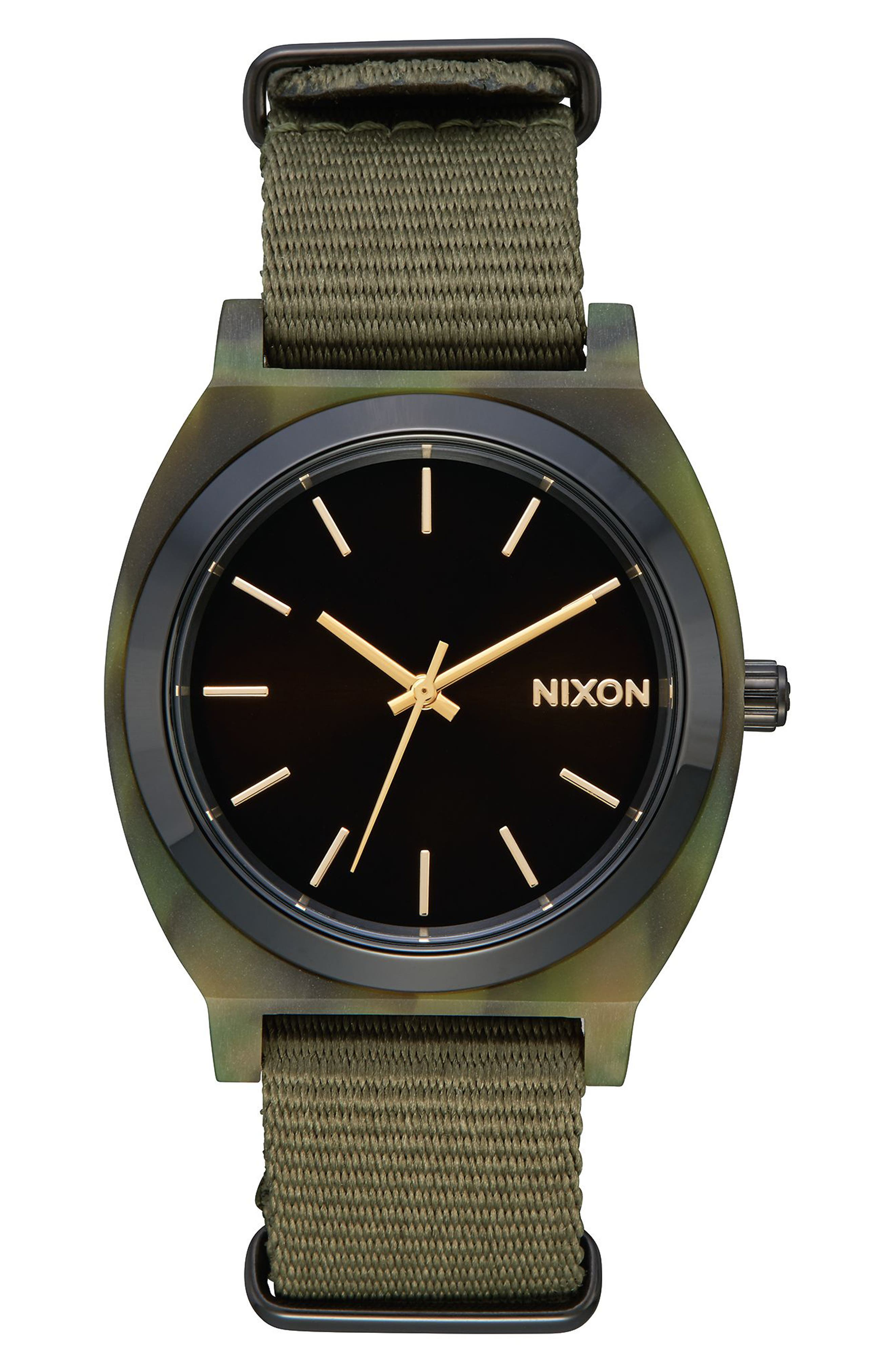 Nixon Time Teller Acetate NATO Strap Watch, 40mm