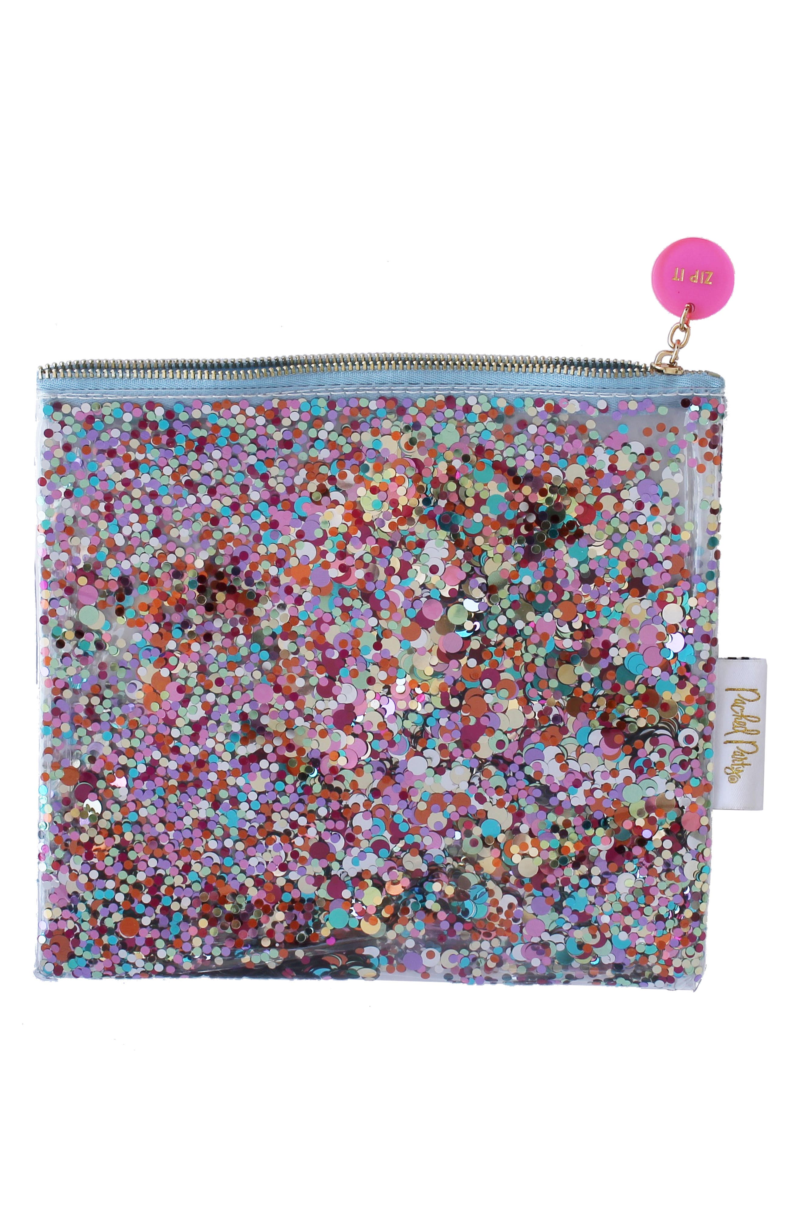 Packed Party Everything Glitter Zip Pouch