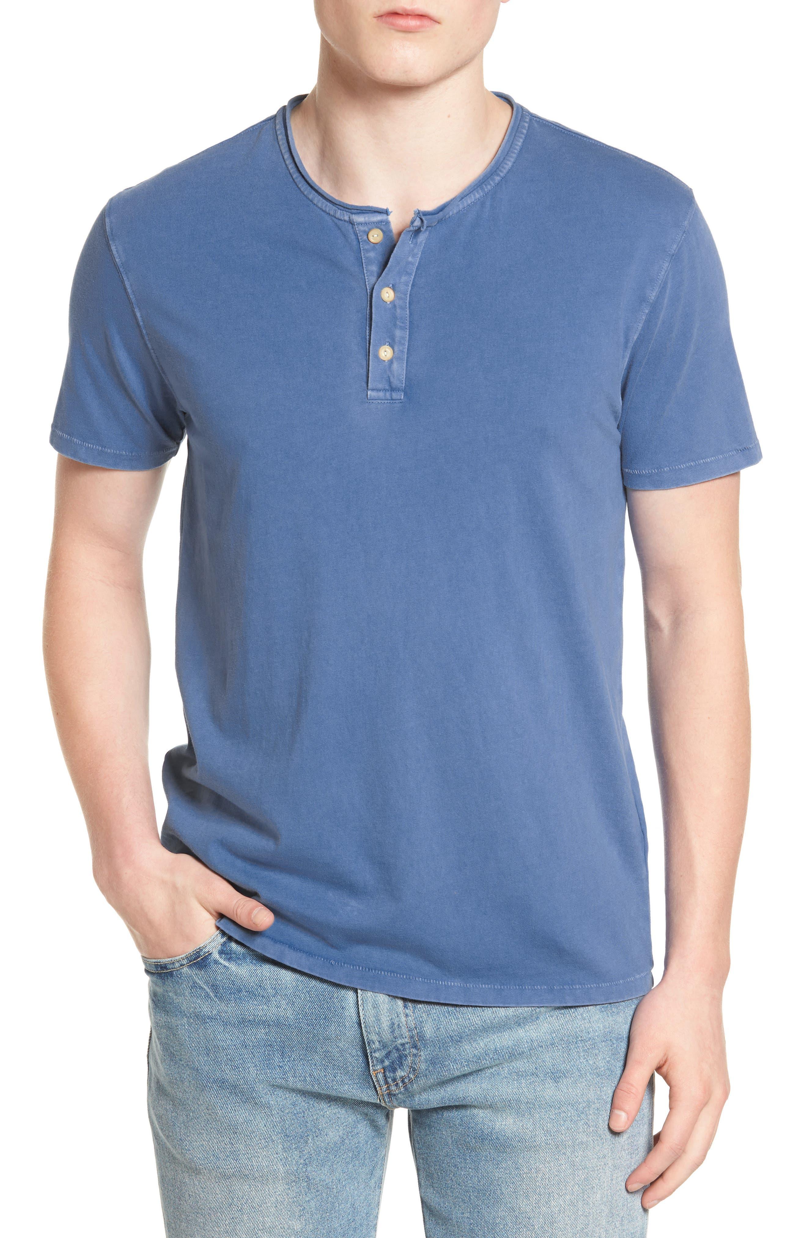 Lucky Brand Rolled Neck Henley T-Shirt