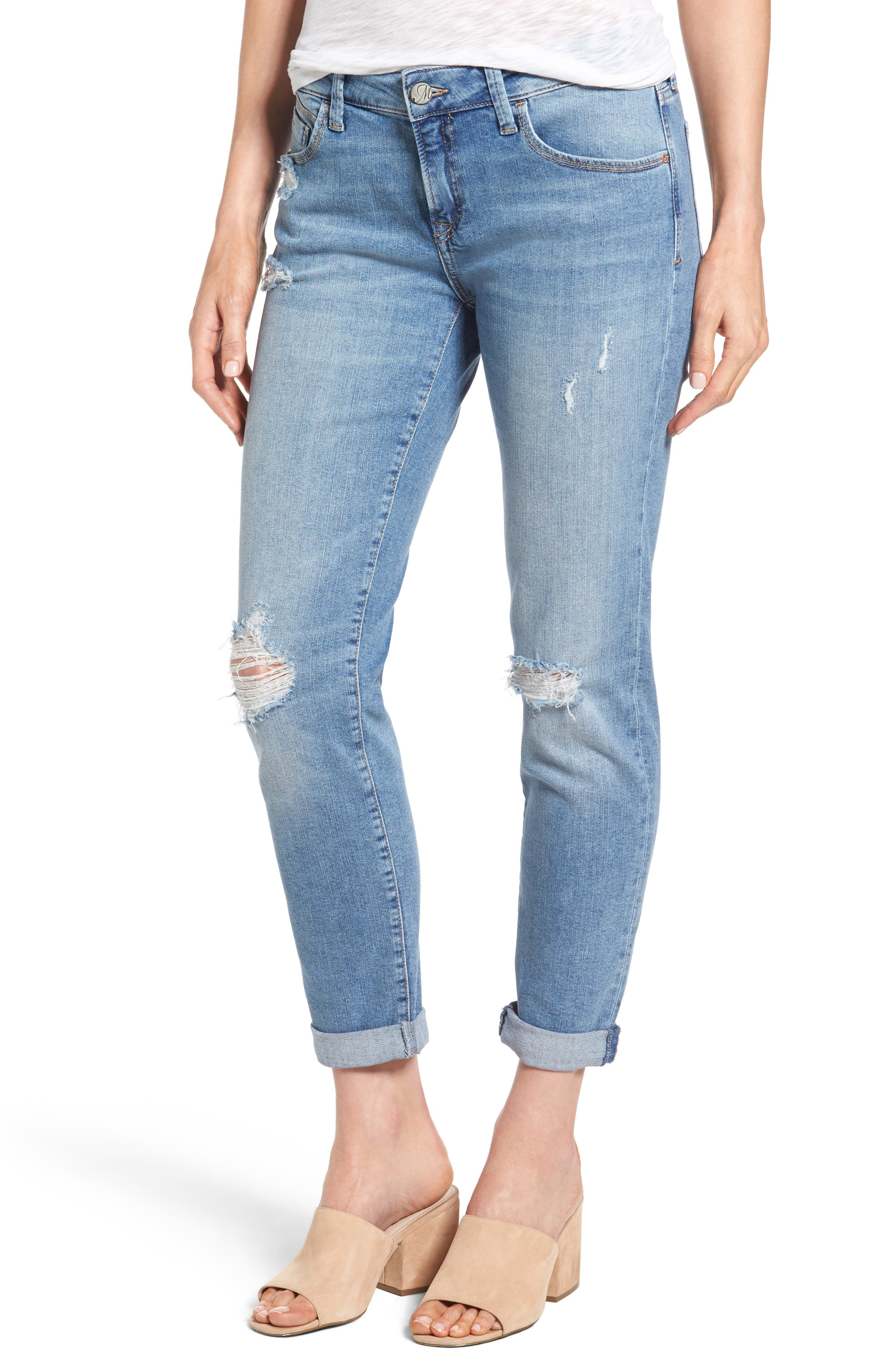 Mavi Jeans Ada Distressed Boyfriend Jeans (Light Used Vintage)