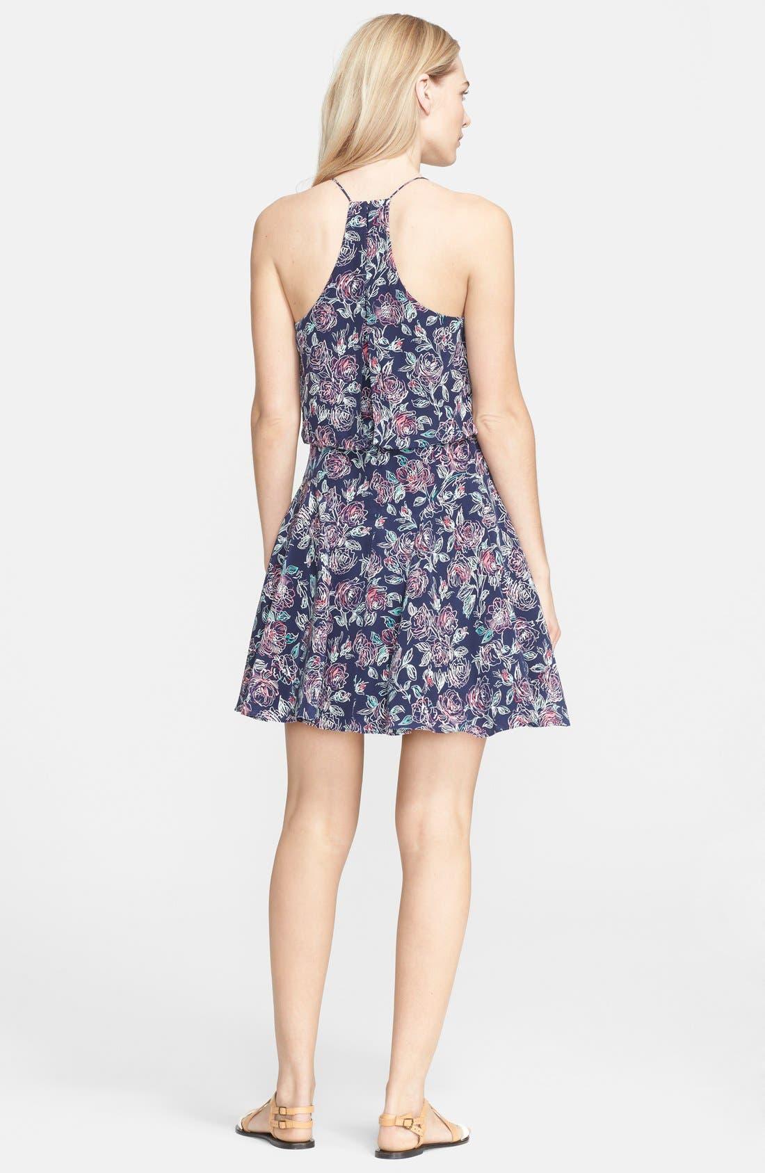 Alternate Image 2  - Joie 'Nanon' Print Silk Blouson Dress