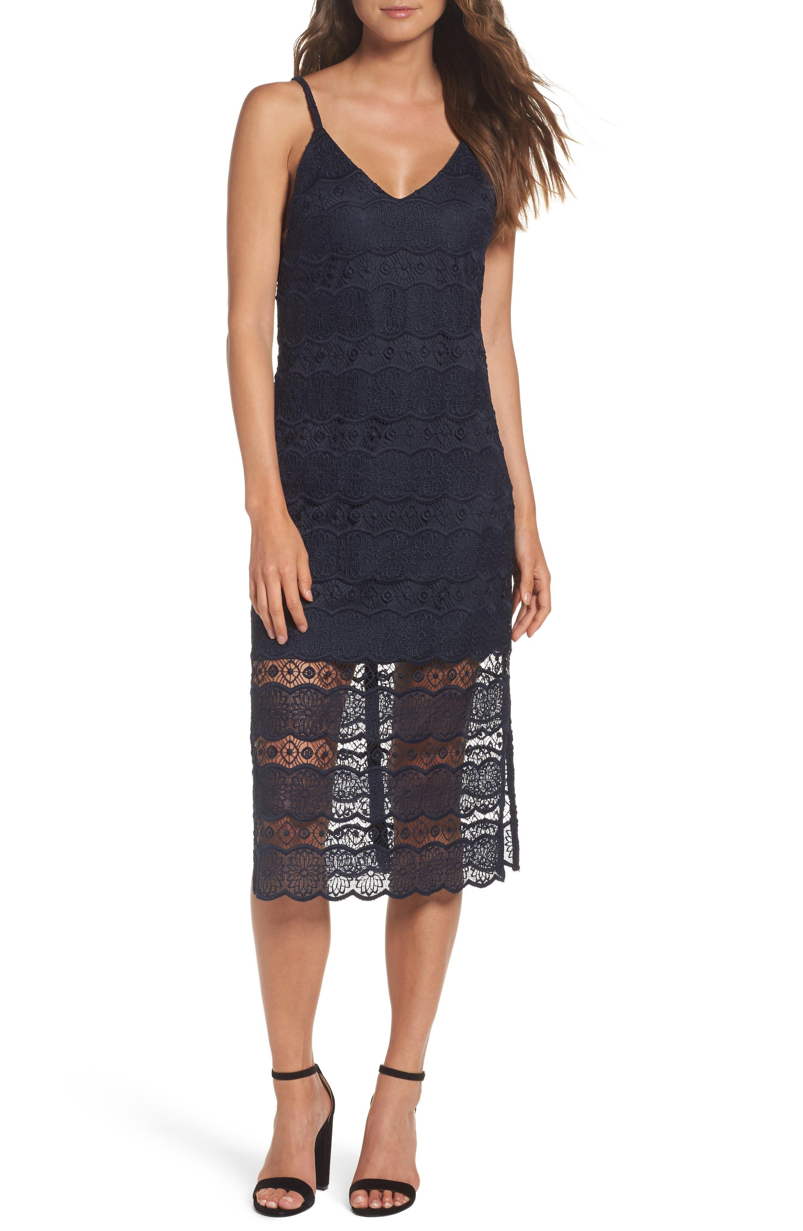 Betsey Johnson Lace Midi Dress