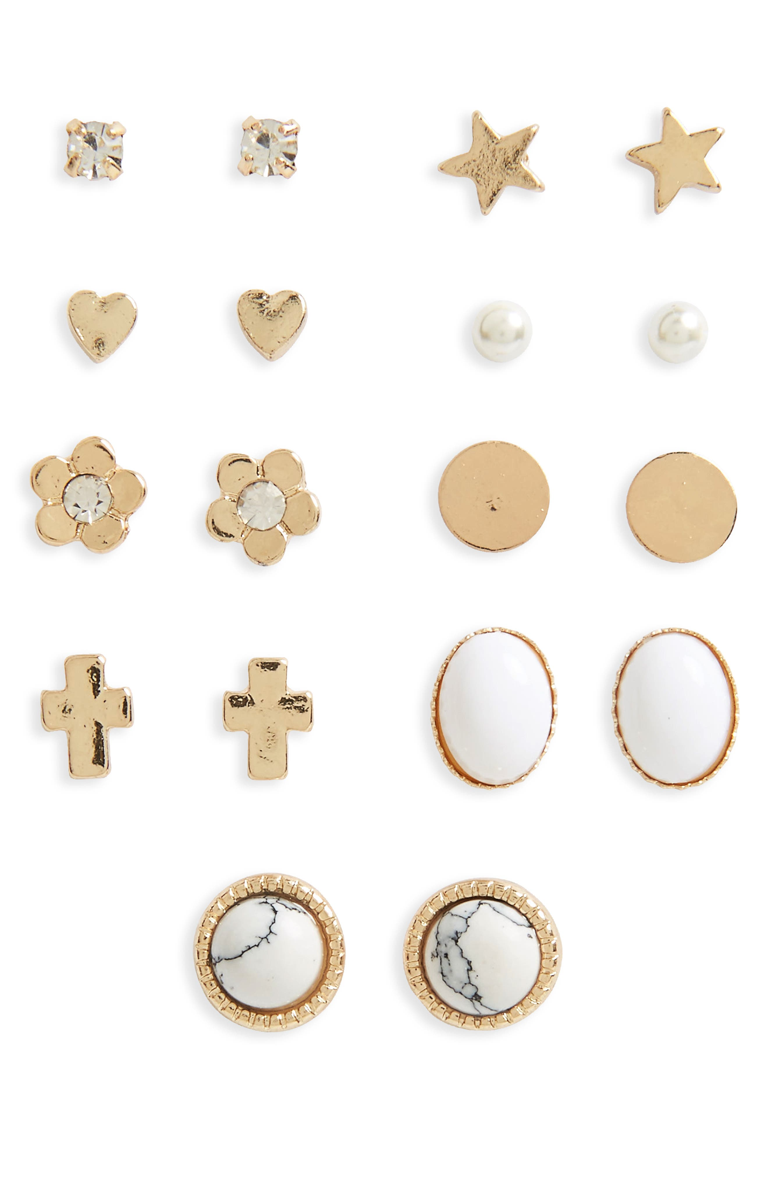 BP. 9-Pack Stud Earrings