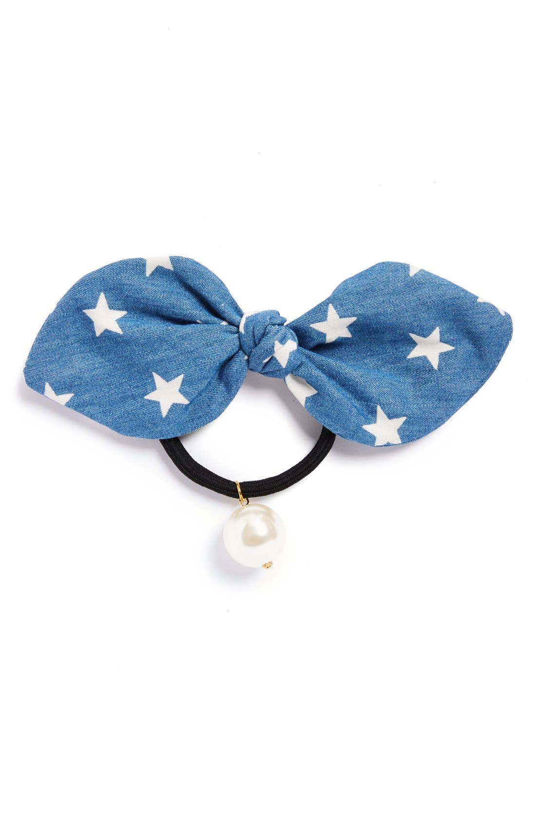 Alternate Image 1 Selected - Cara 'Denim Star' Ponytail Holder