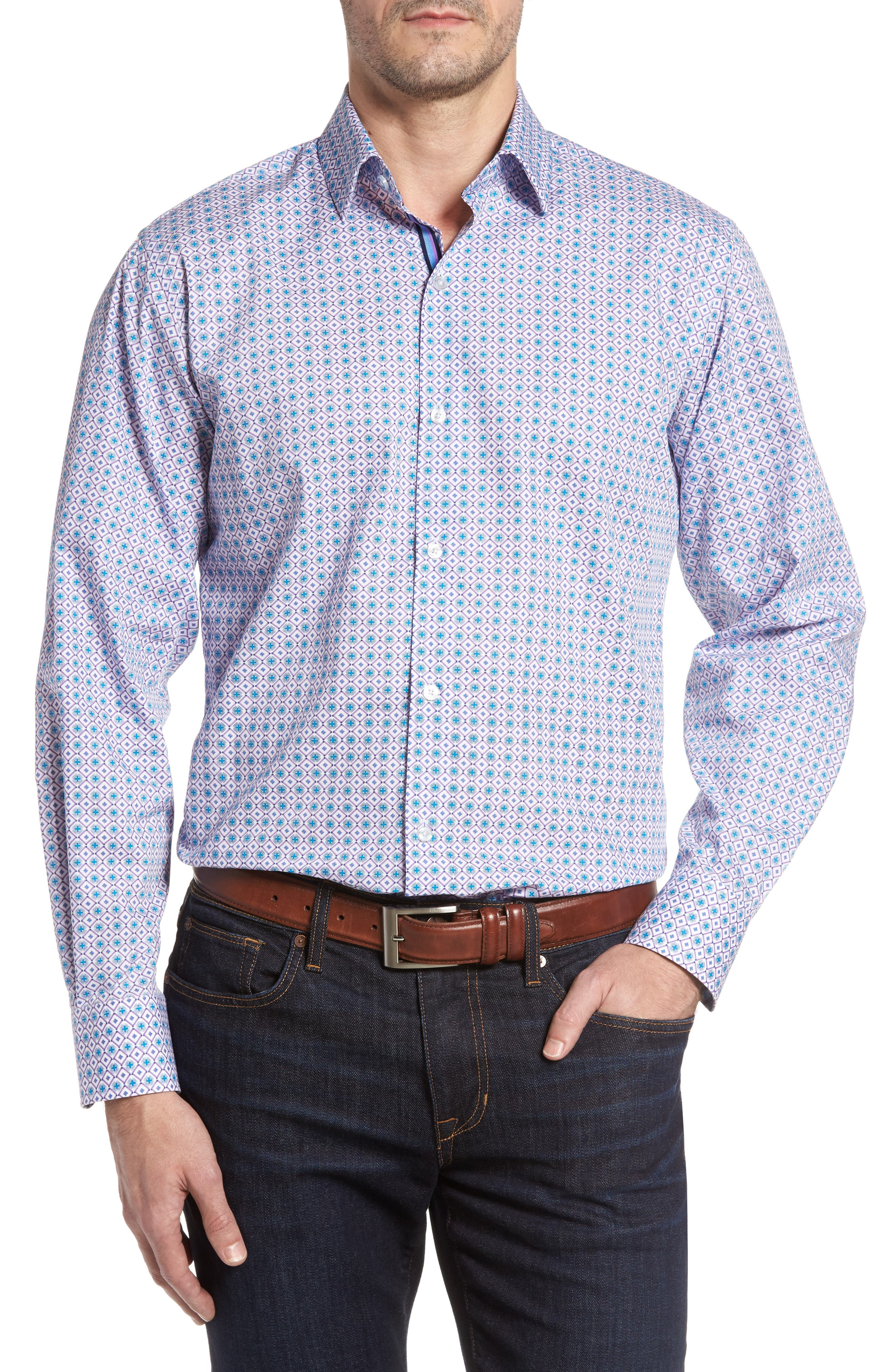 TailorByrd Sycamore Print Sport Shirt (Big & Tall)