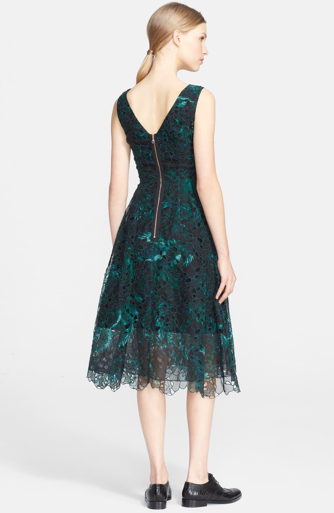 Alternate Image 2  - Erdem Print Embroidered Silk Fit & Flare Dress
