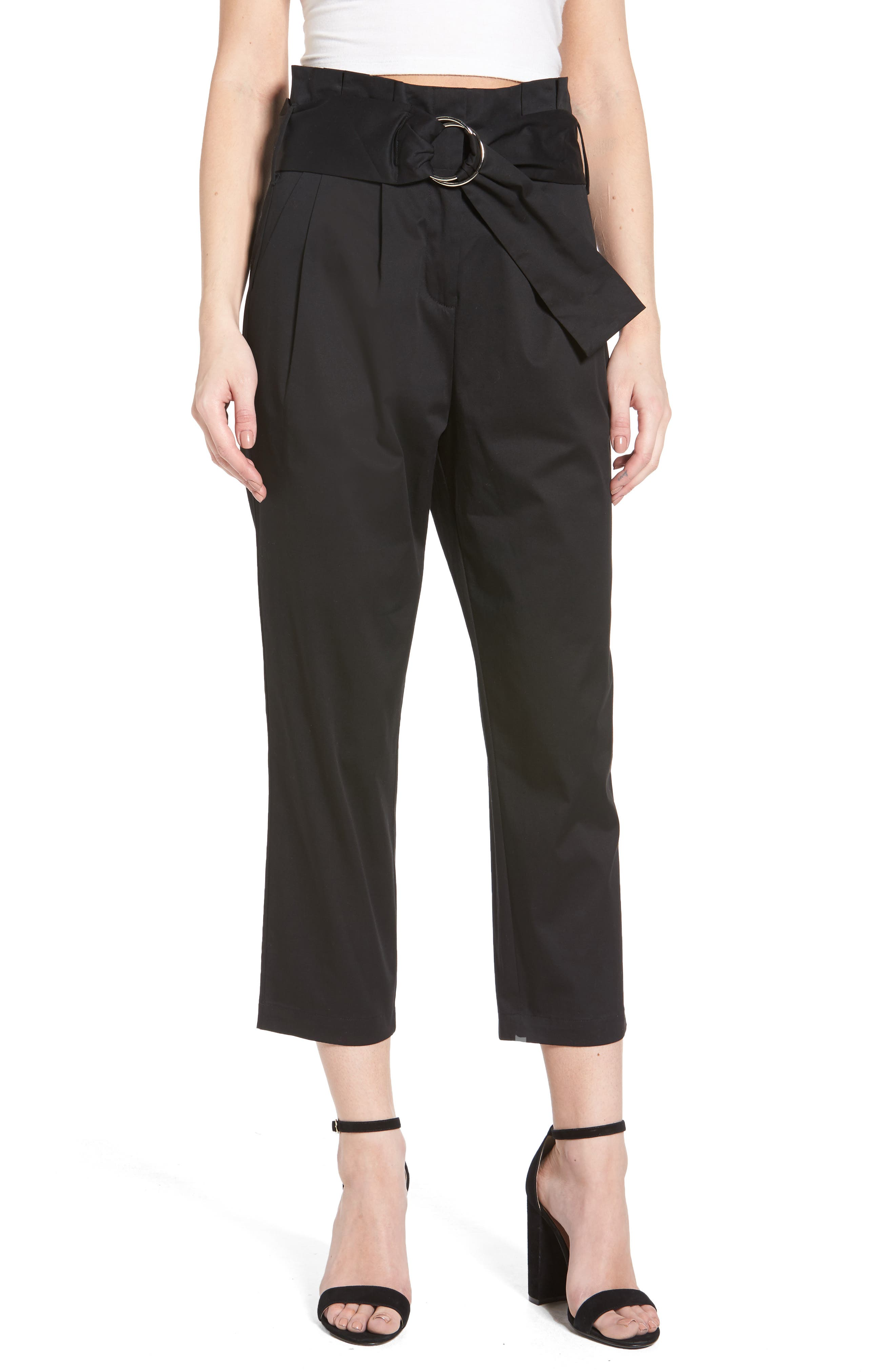 J.O.A. Belted Crop Pants
