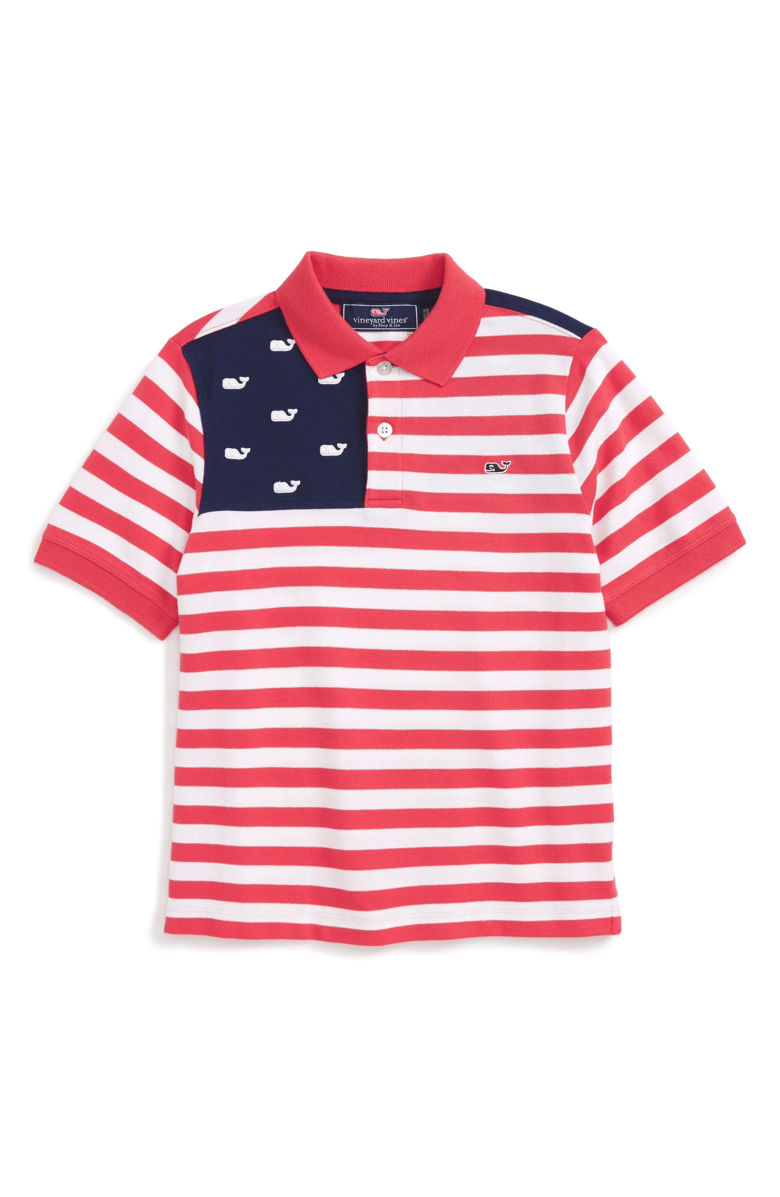Vineyard Vines USA Flag Polo (Toddler Boys, Little Boys & Big Boys)
