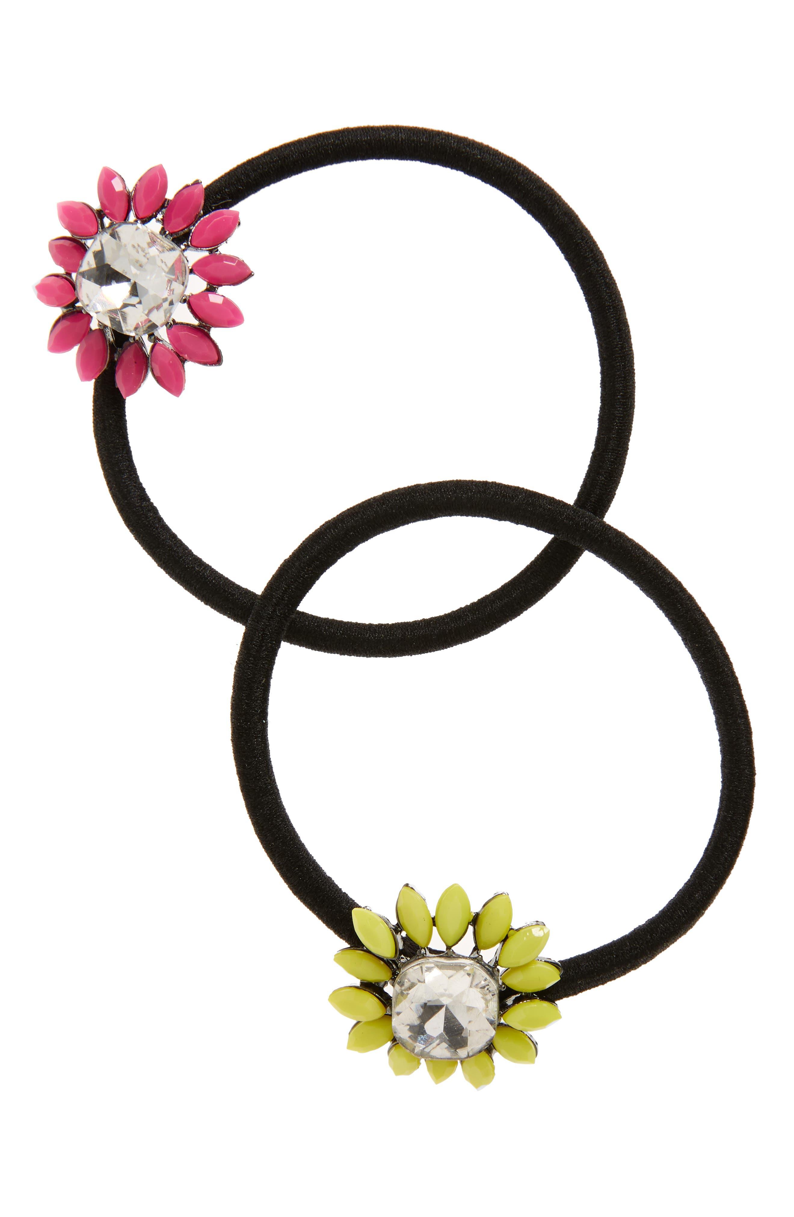 Cara 2-Pack Flower Hair Ties