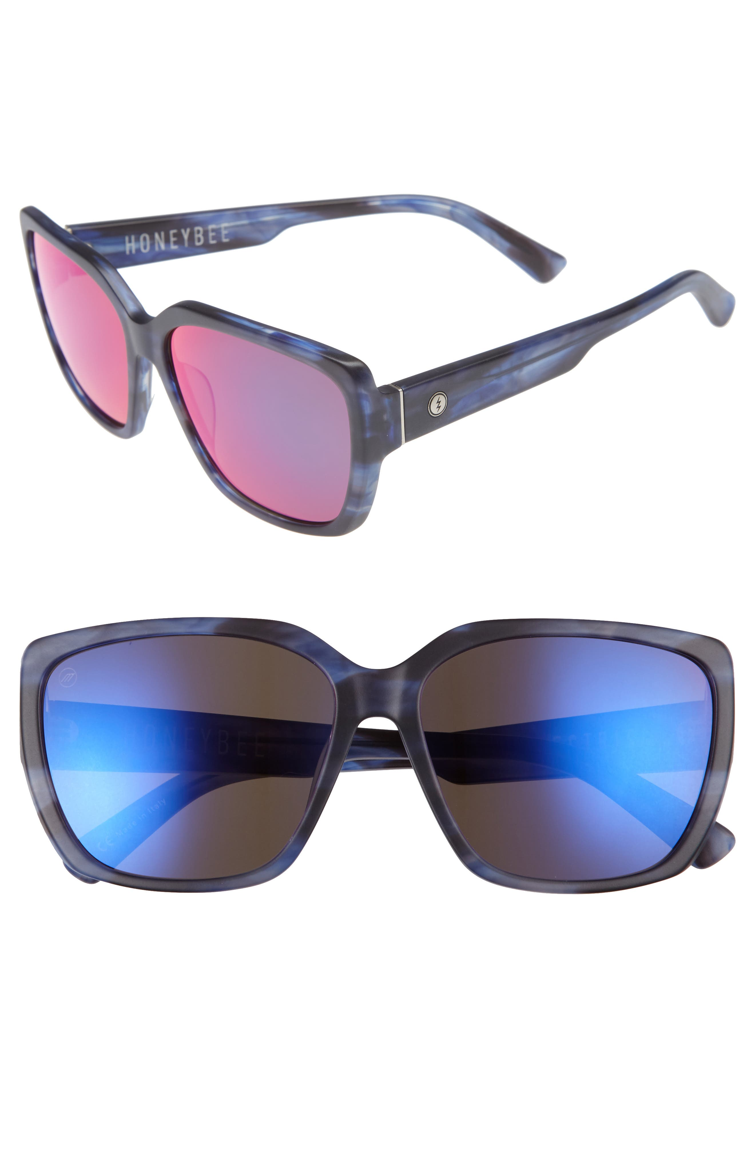 Electric Honey Bee 60mm Mirrored Sunglasses