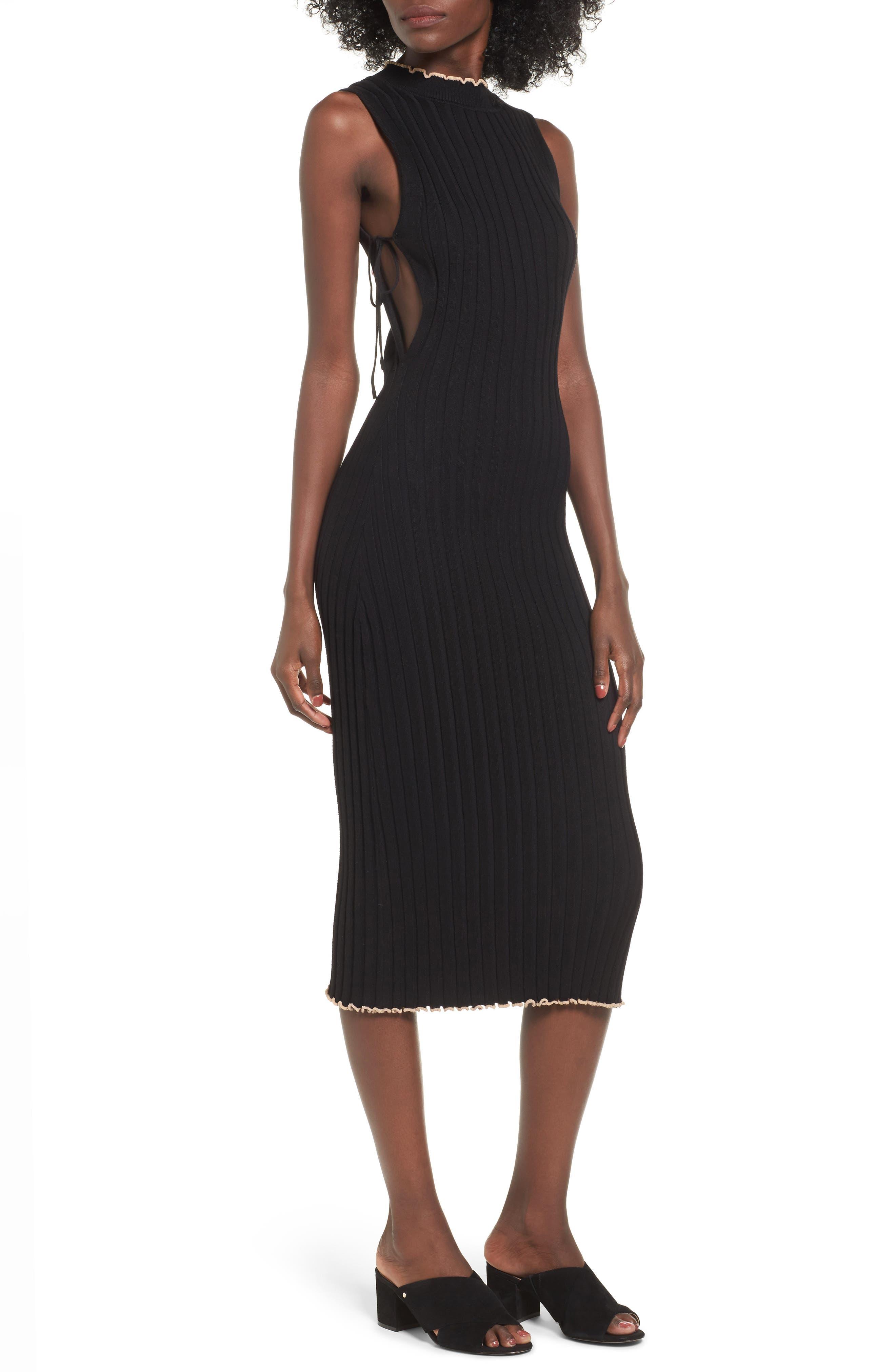 NBD Hope Side Tie Midi Dress