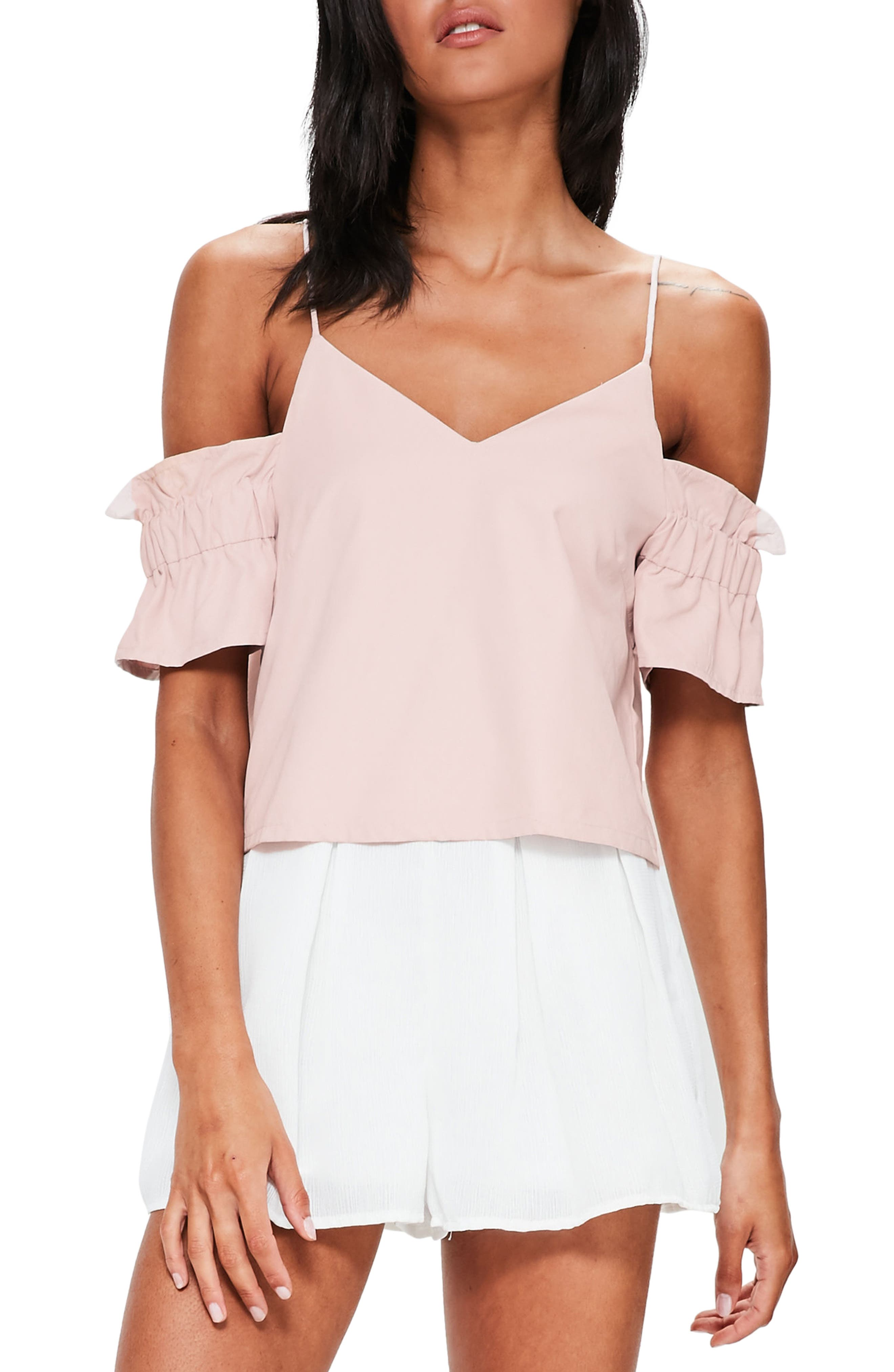 Missguided Brushed Off the Shoulder Top