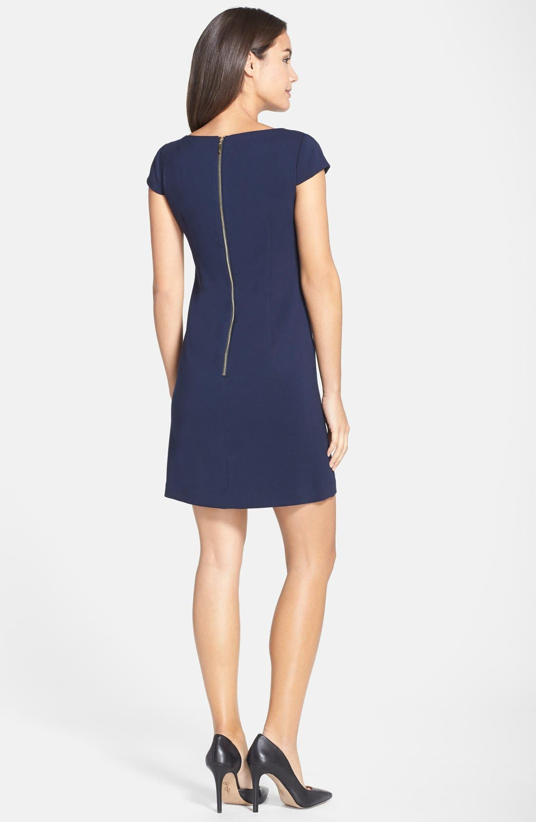 Alternate Image 2  - Eliza J Seamed Crepe Shift Dress