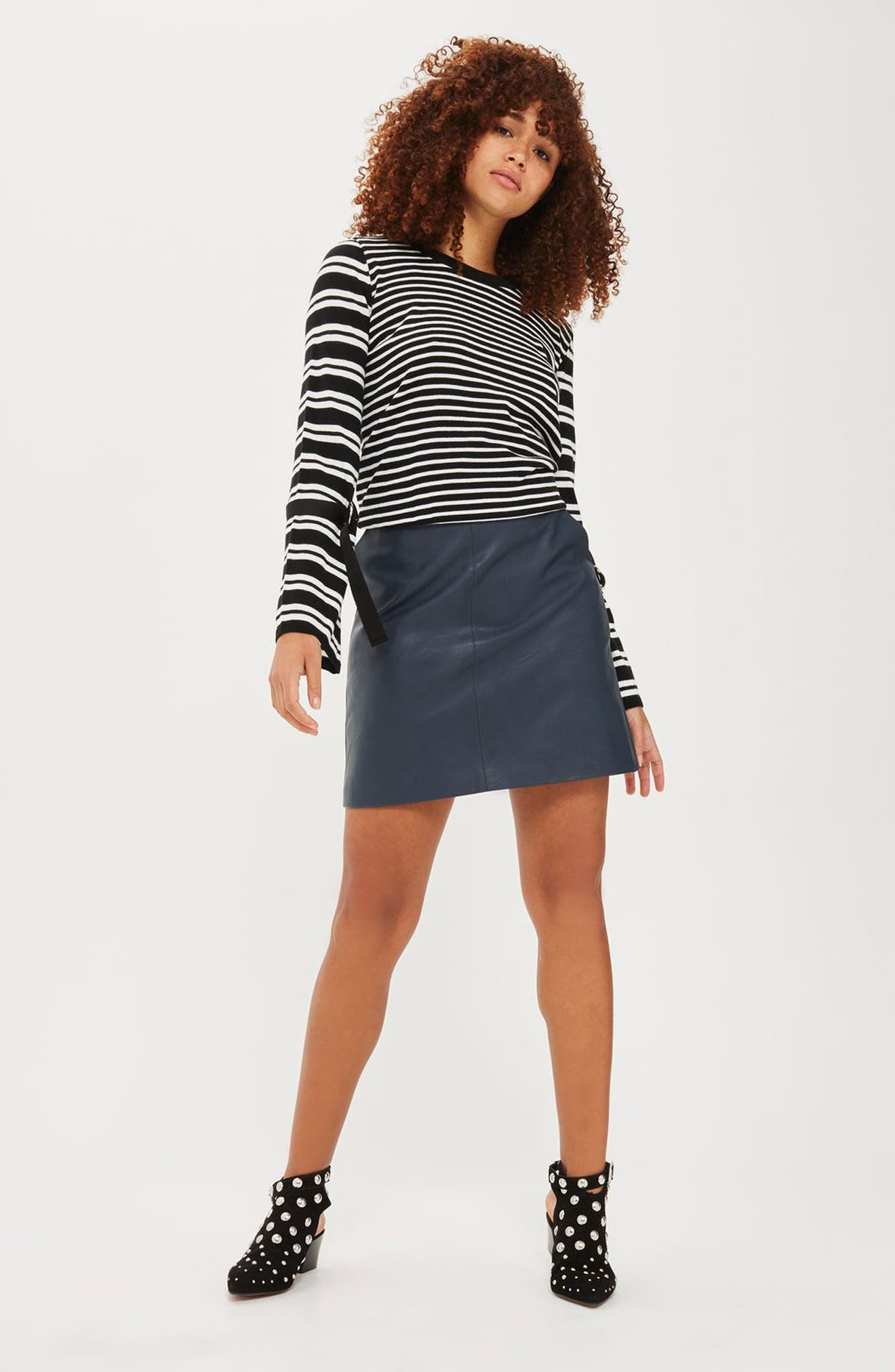Topshop Sweater & Skirt Outfit with Accessories
