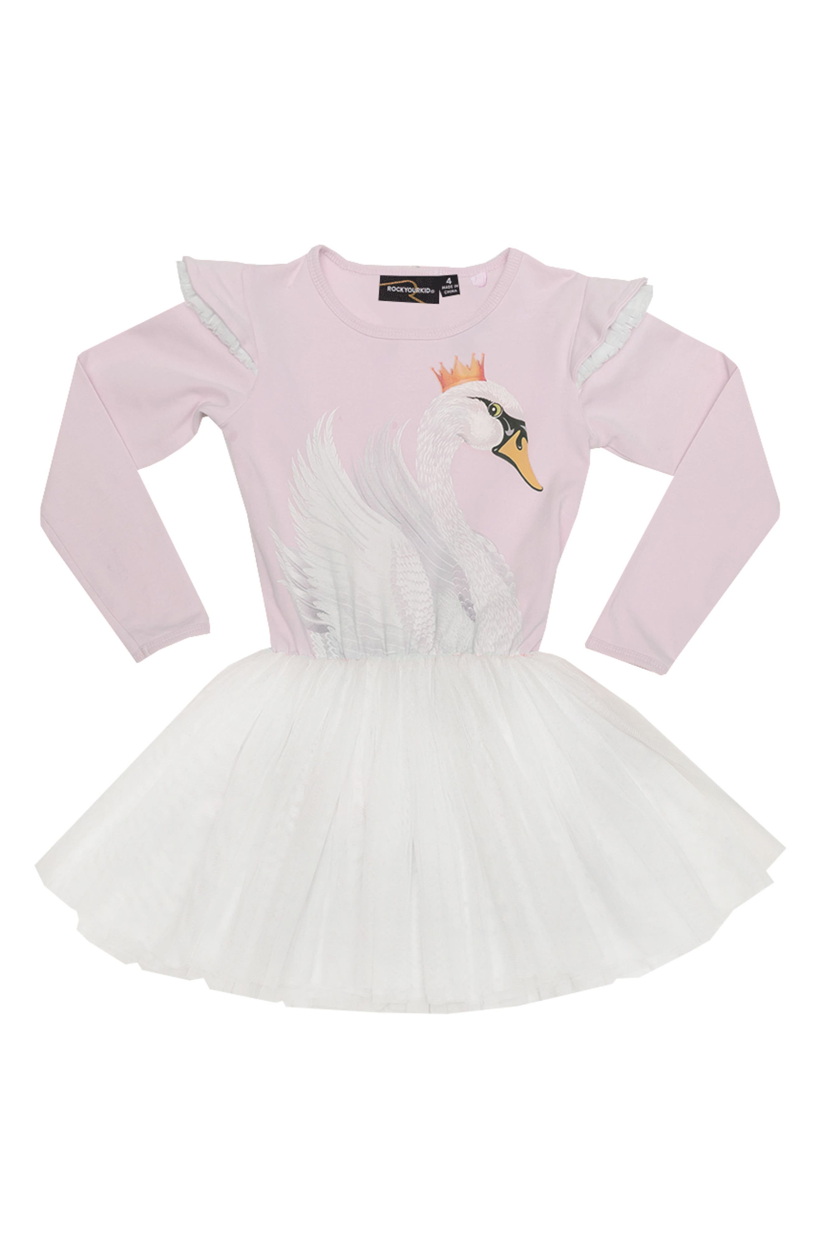 Rock Your Baby Swan Lake Circus Dress (Toddler Girls & Little Girls)