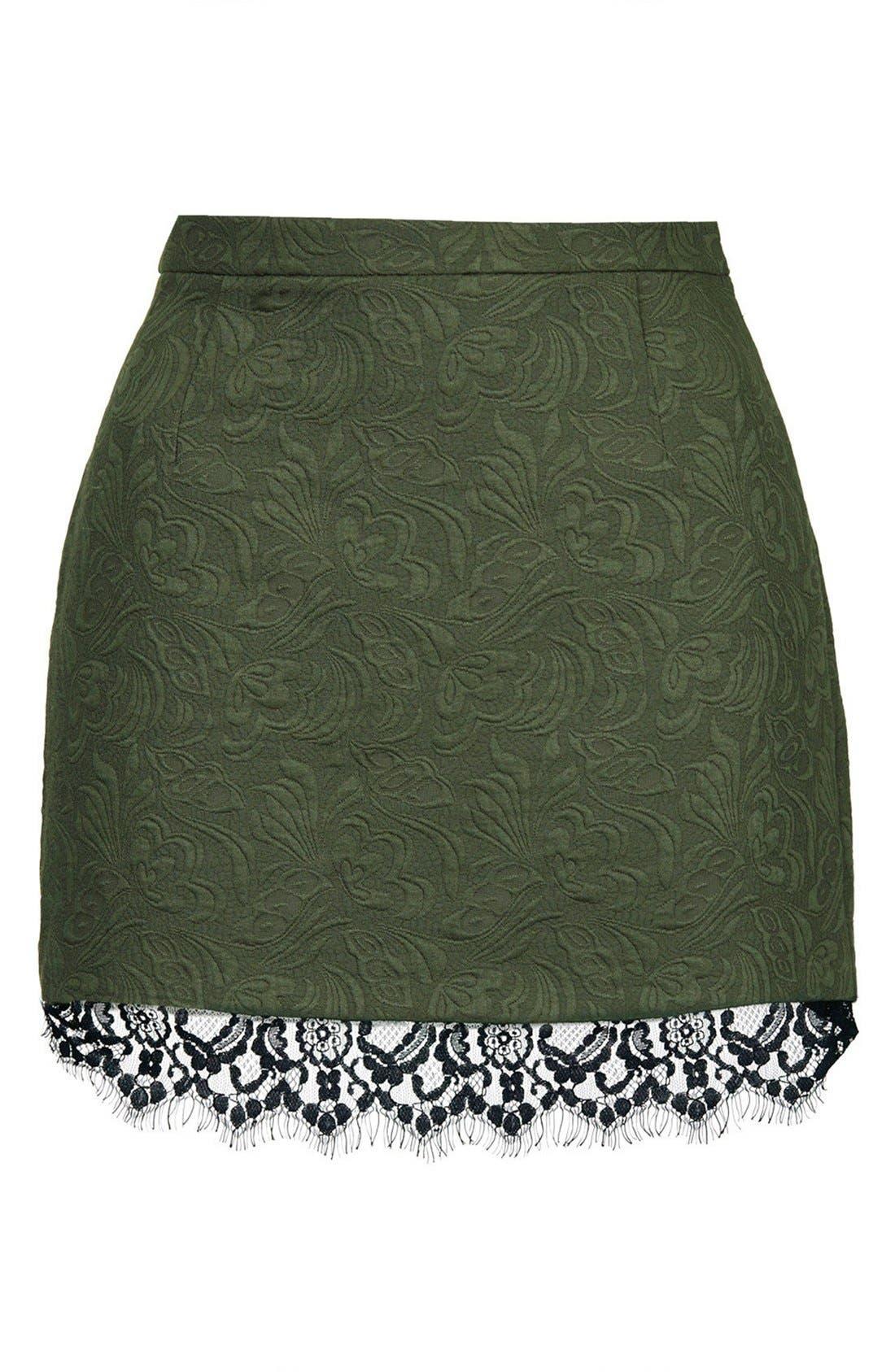Alternate Image 3  - Topshop Textured Lace Pelmet Skirt