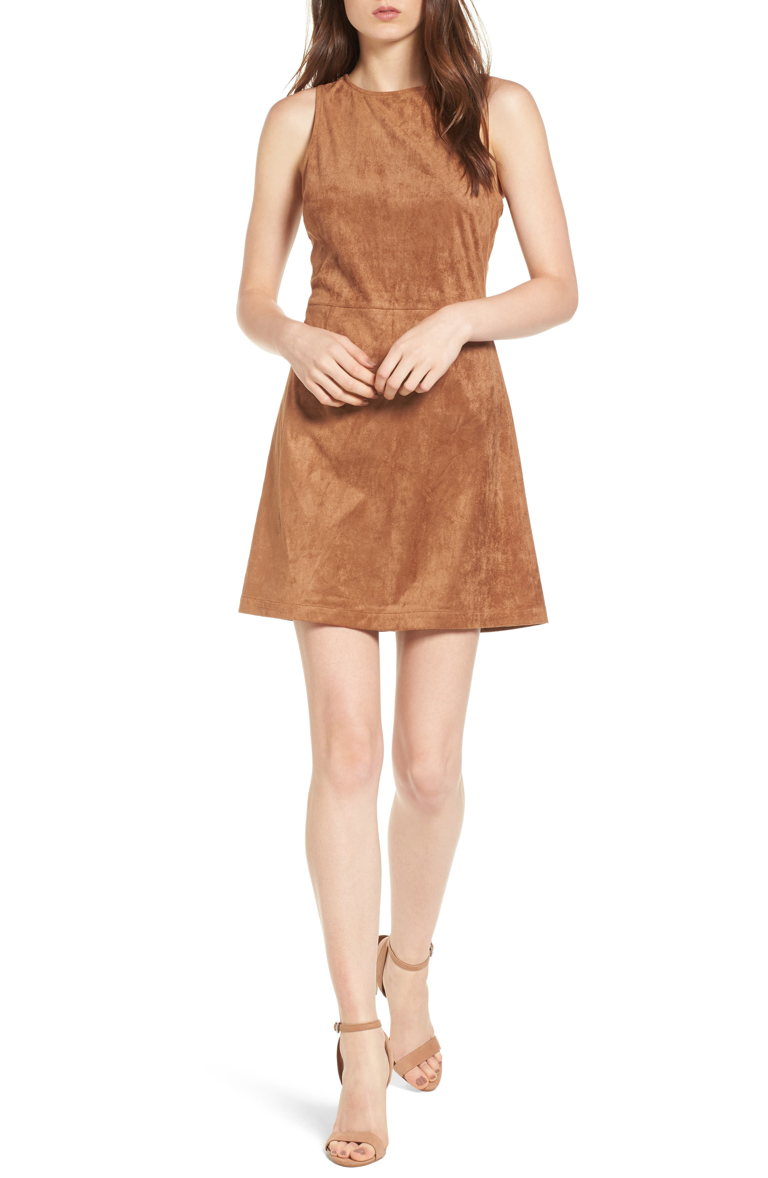 cupcakes and cashmere Savi Faux Suede Dress