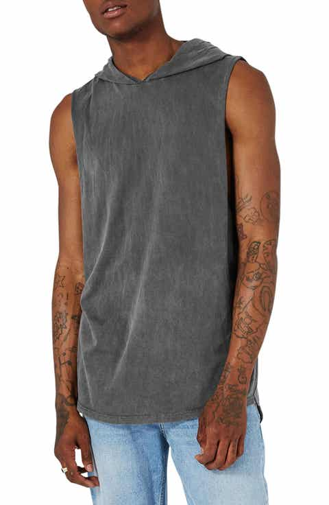 Topman Washed Hooded Tank