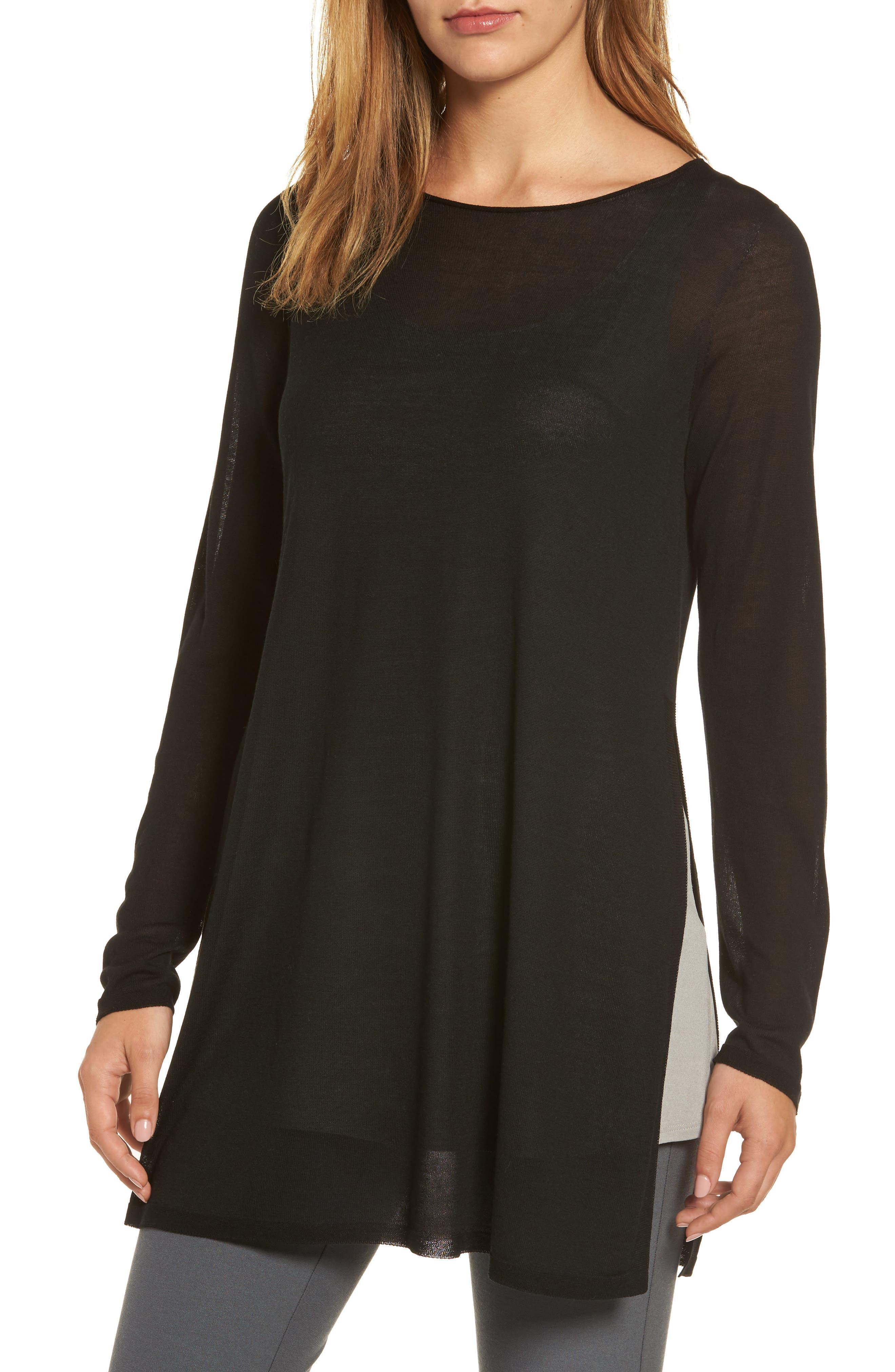 Eileen Fisher Side Slit Tencel® Tunic