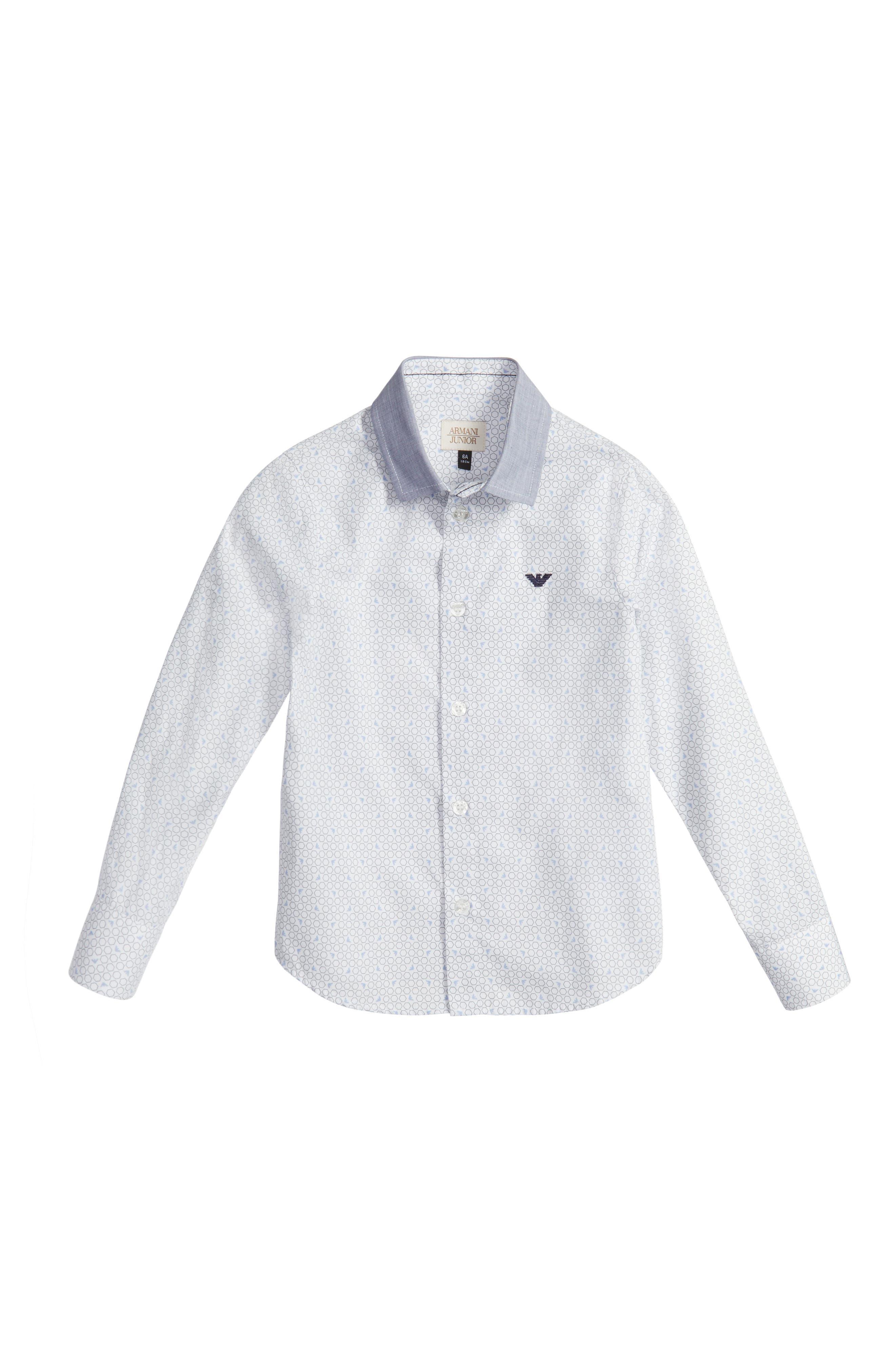 Armani Junior Geo Print Dress Shirt (Little Boys & Big Boys)