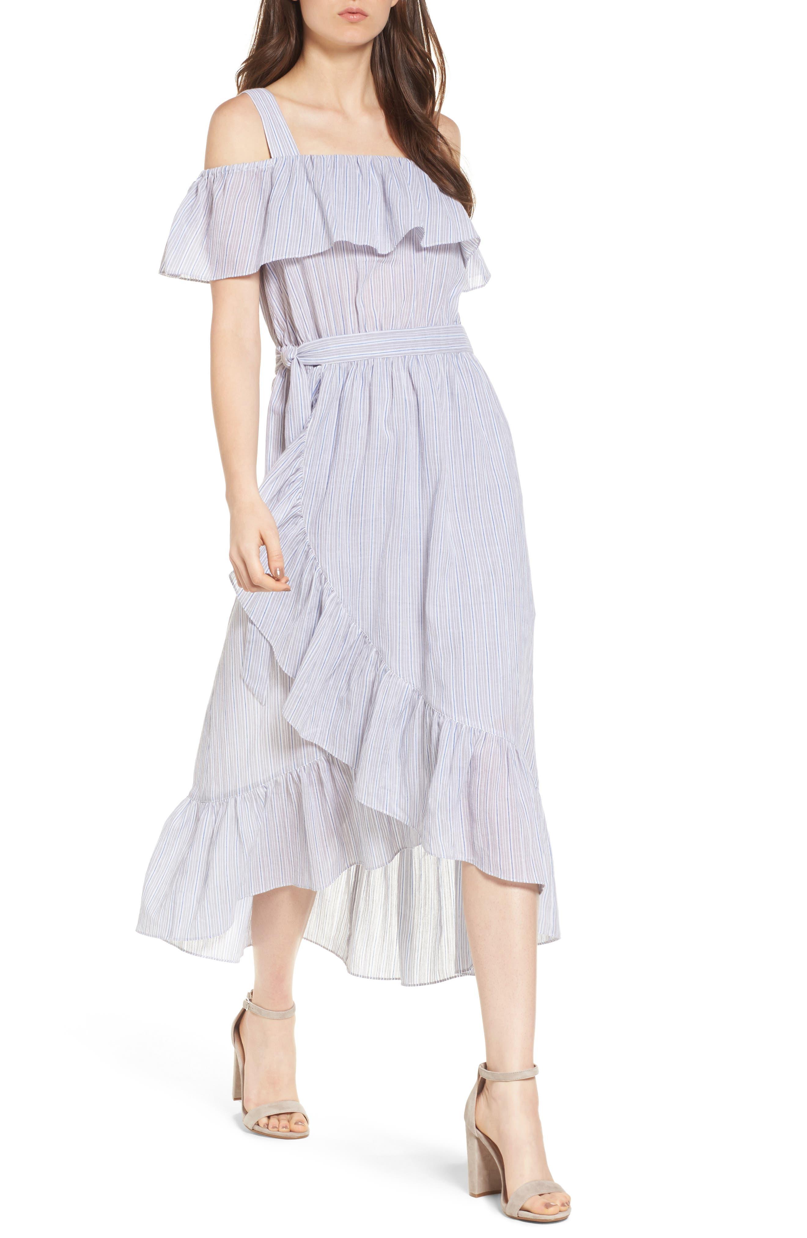 Chelsea28 Apron Ruffle Midi Dress