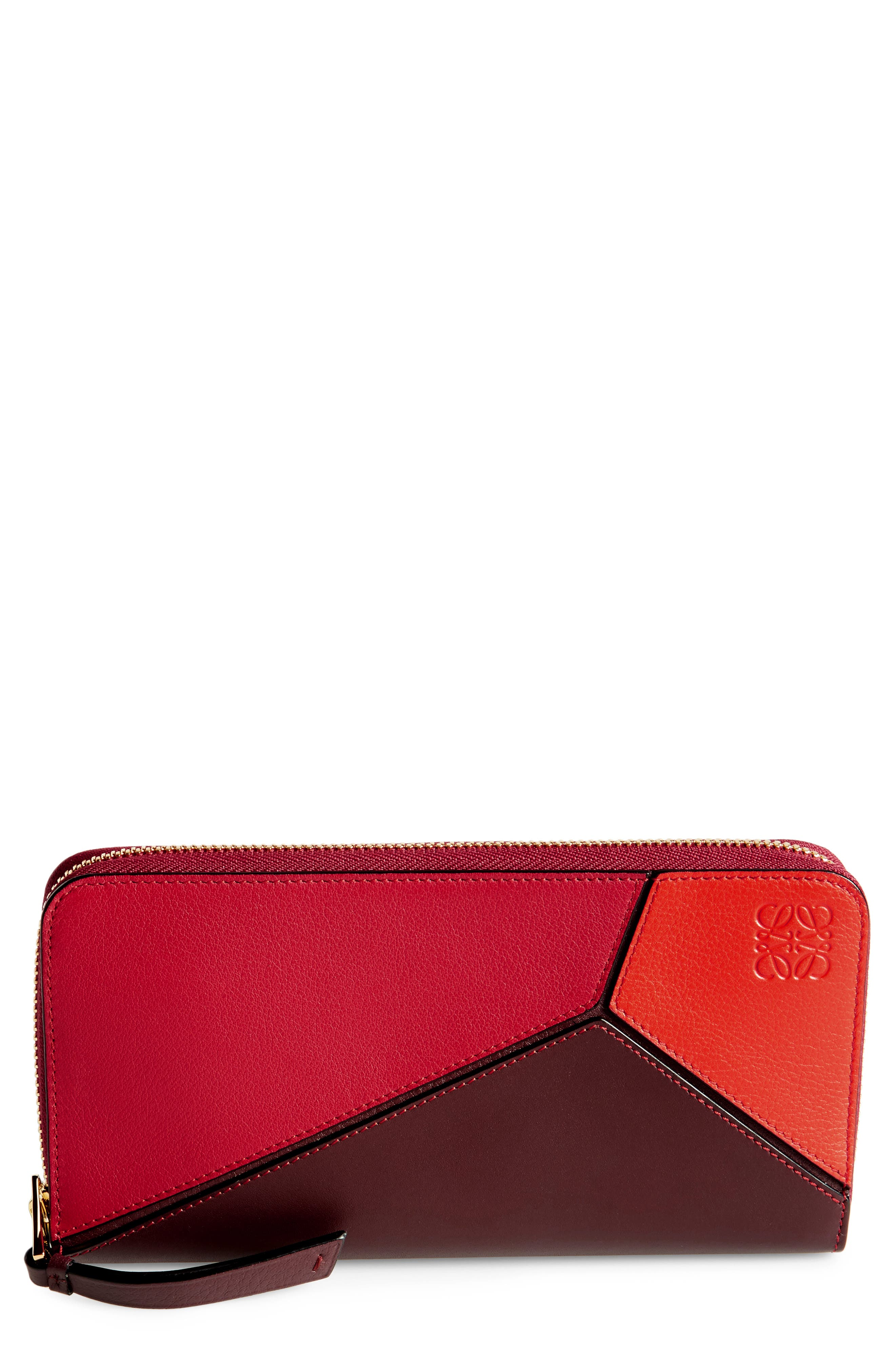 Loewe Puzzle Leather Zip Around Wallet