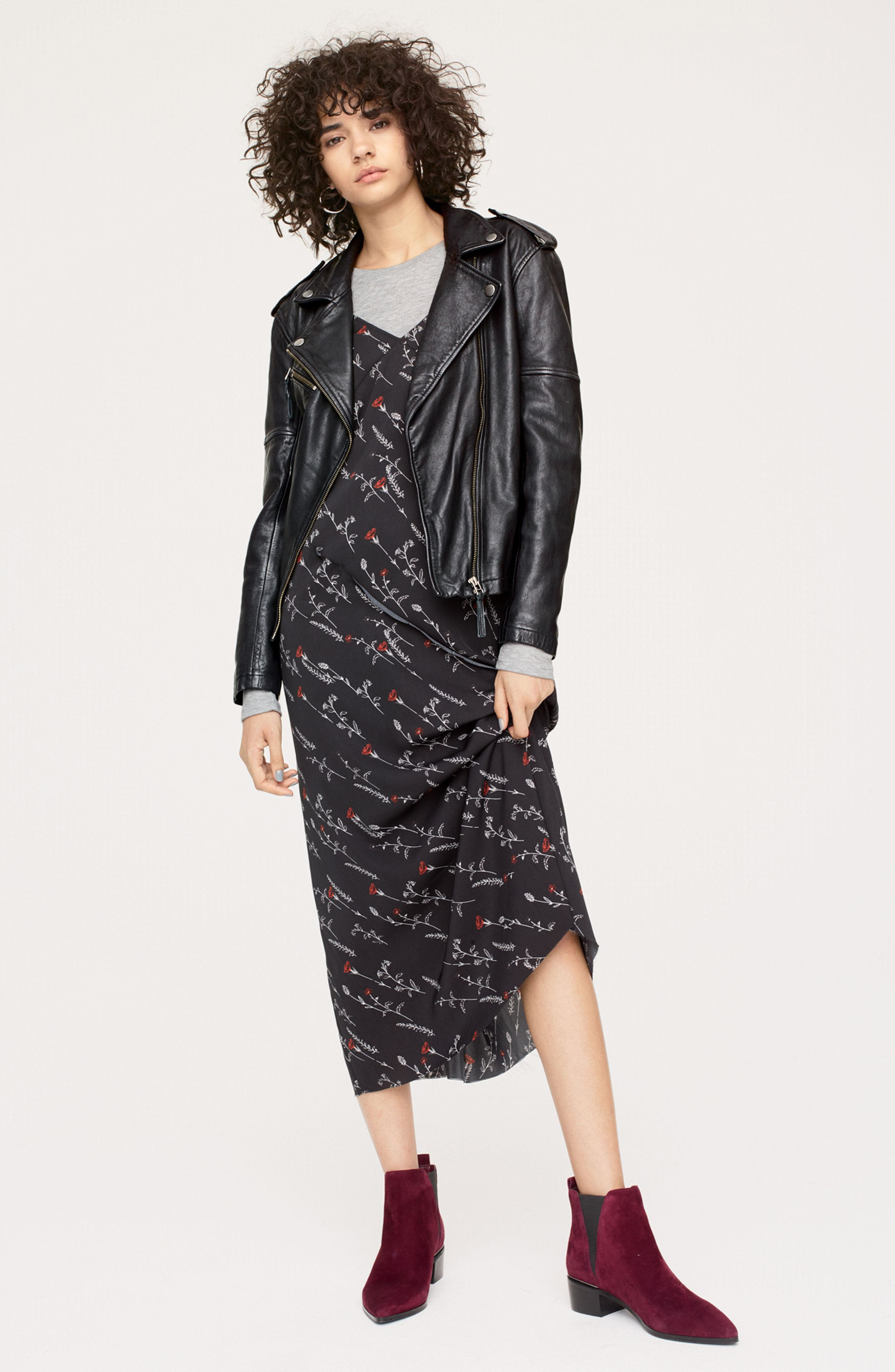 Treasure & Bond Jacket, Slipdress & Tee Outfit with Accessories