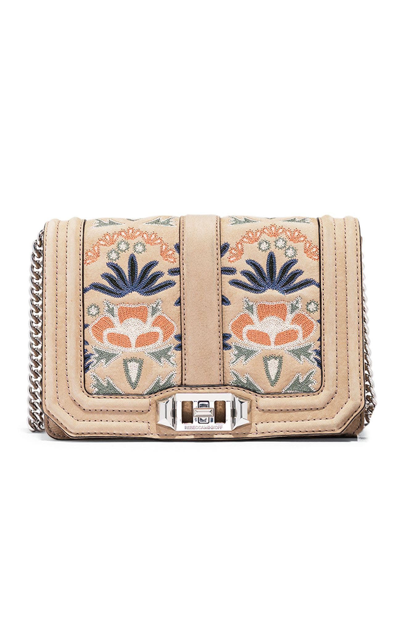 Alternate Image 8  - Rebecca Minkoff Small Love Embroidered Nubuck Crossbody Bag (Nordstrom Exclusive)