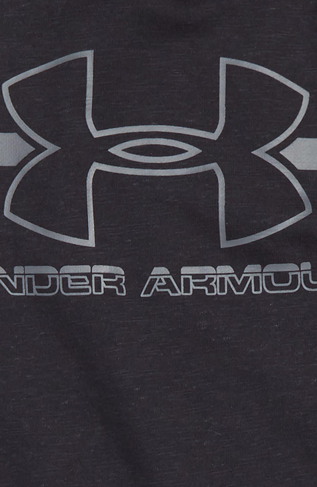Alternate Image 2  - Under Armour Logo Hooded Sweatshirt (Little Boys & Big Boys)
