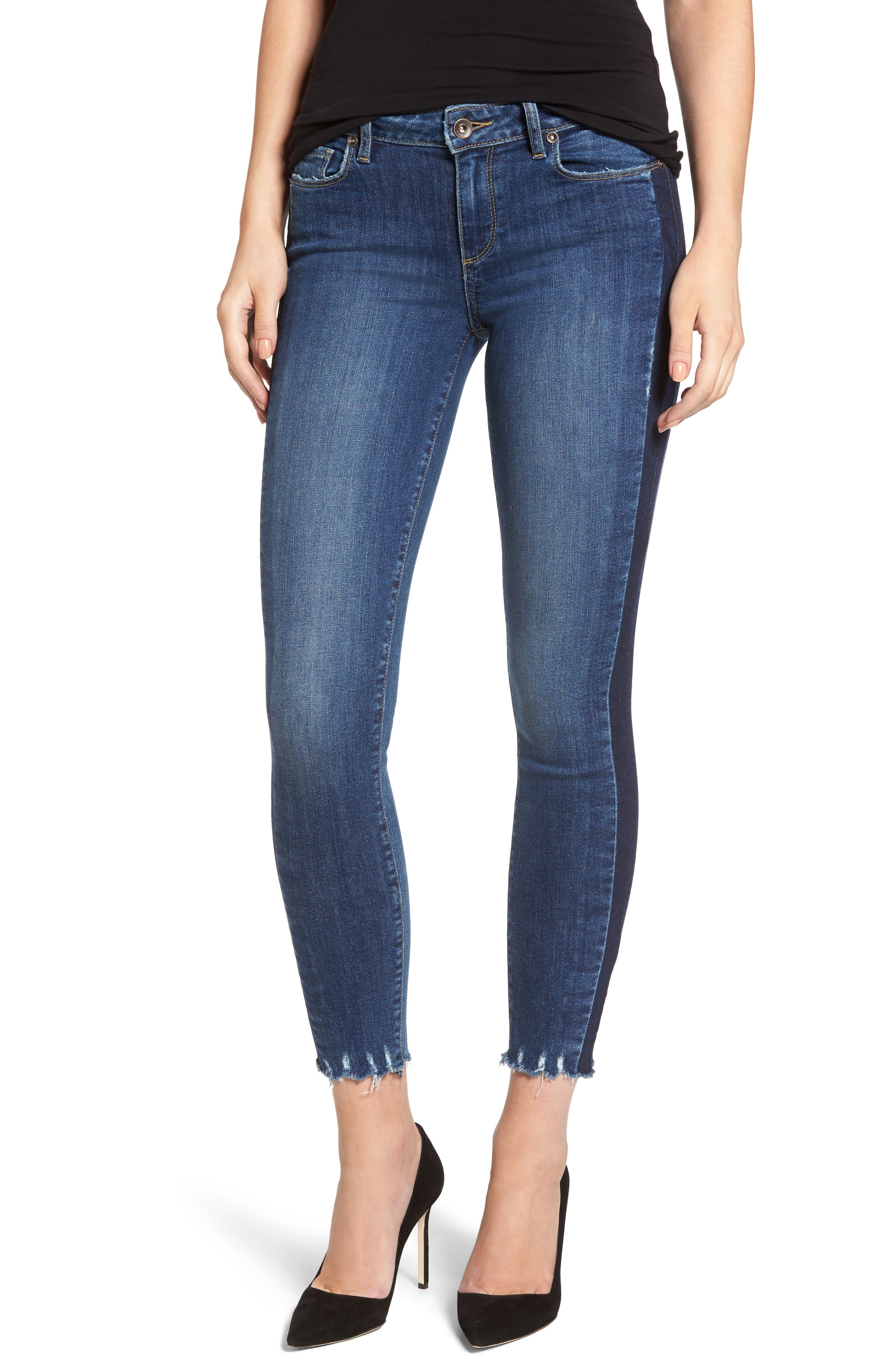 PAIGE Verdugo Side Stripe Ankle Ultra Skinny Jeans (Atwood)