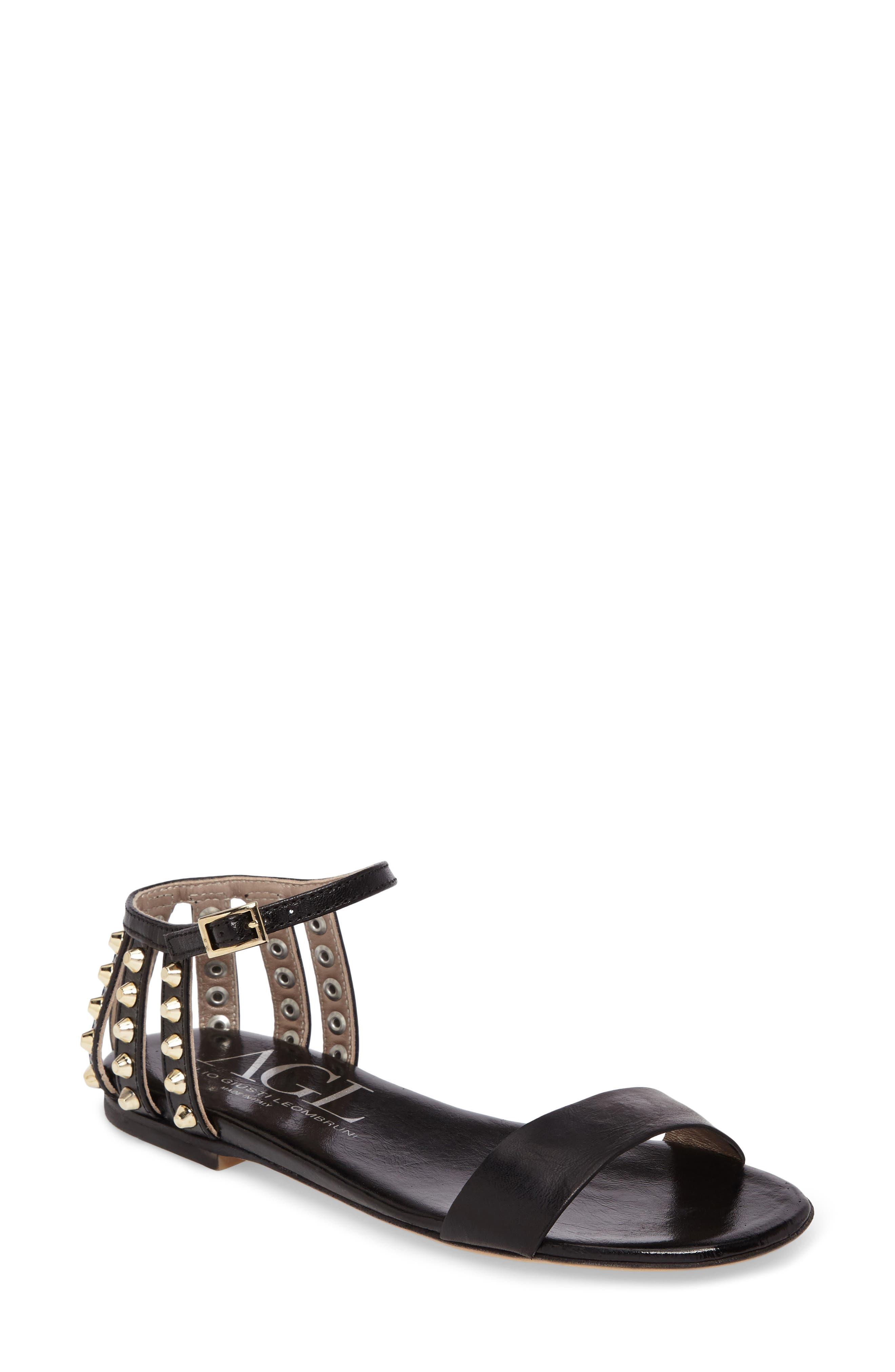 AGL Studded Heel Cage Sandal (Women)
