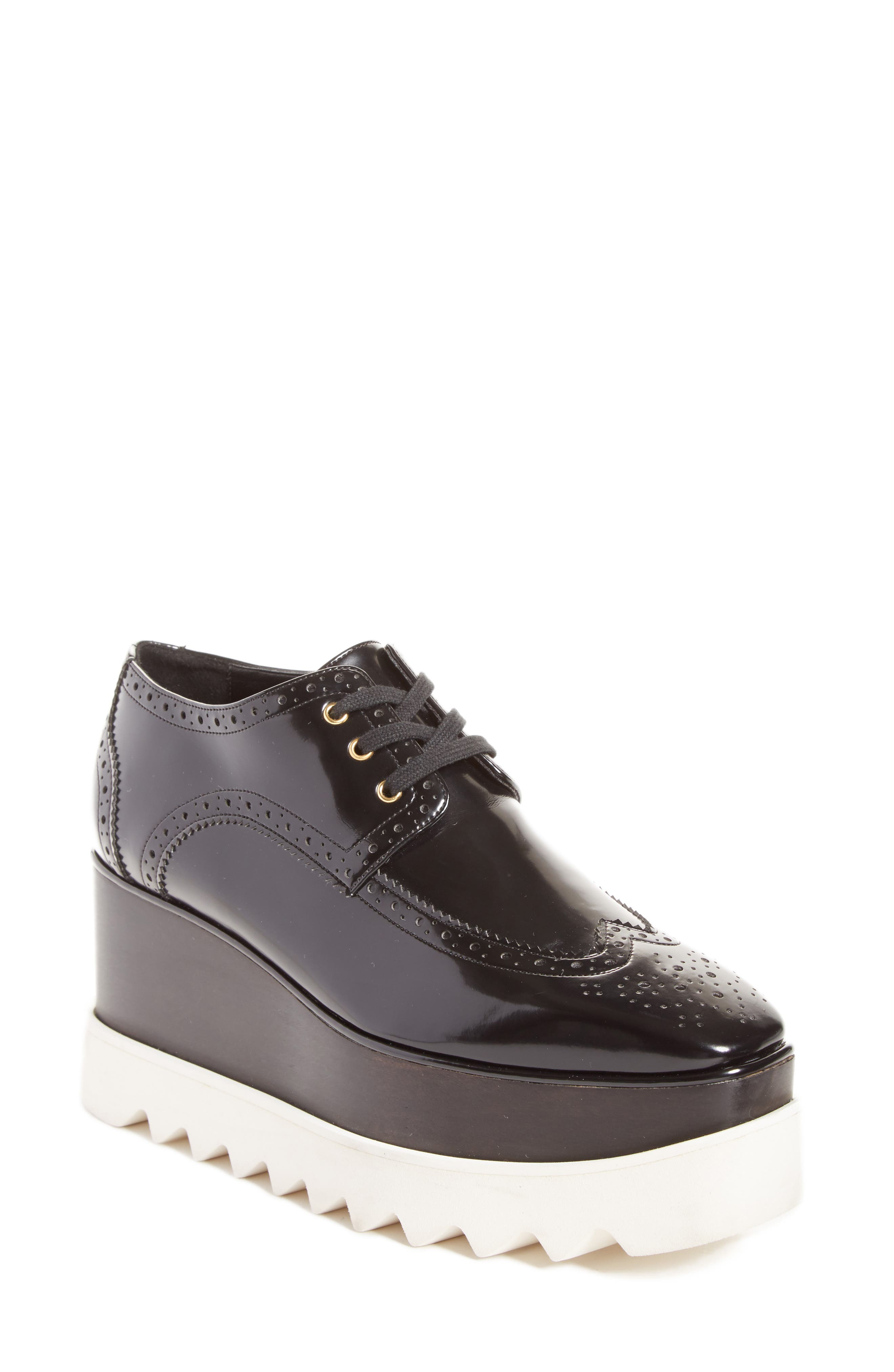 Stella McCartney Elyse Brogue Platform Loafer (Women)